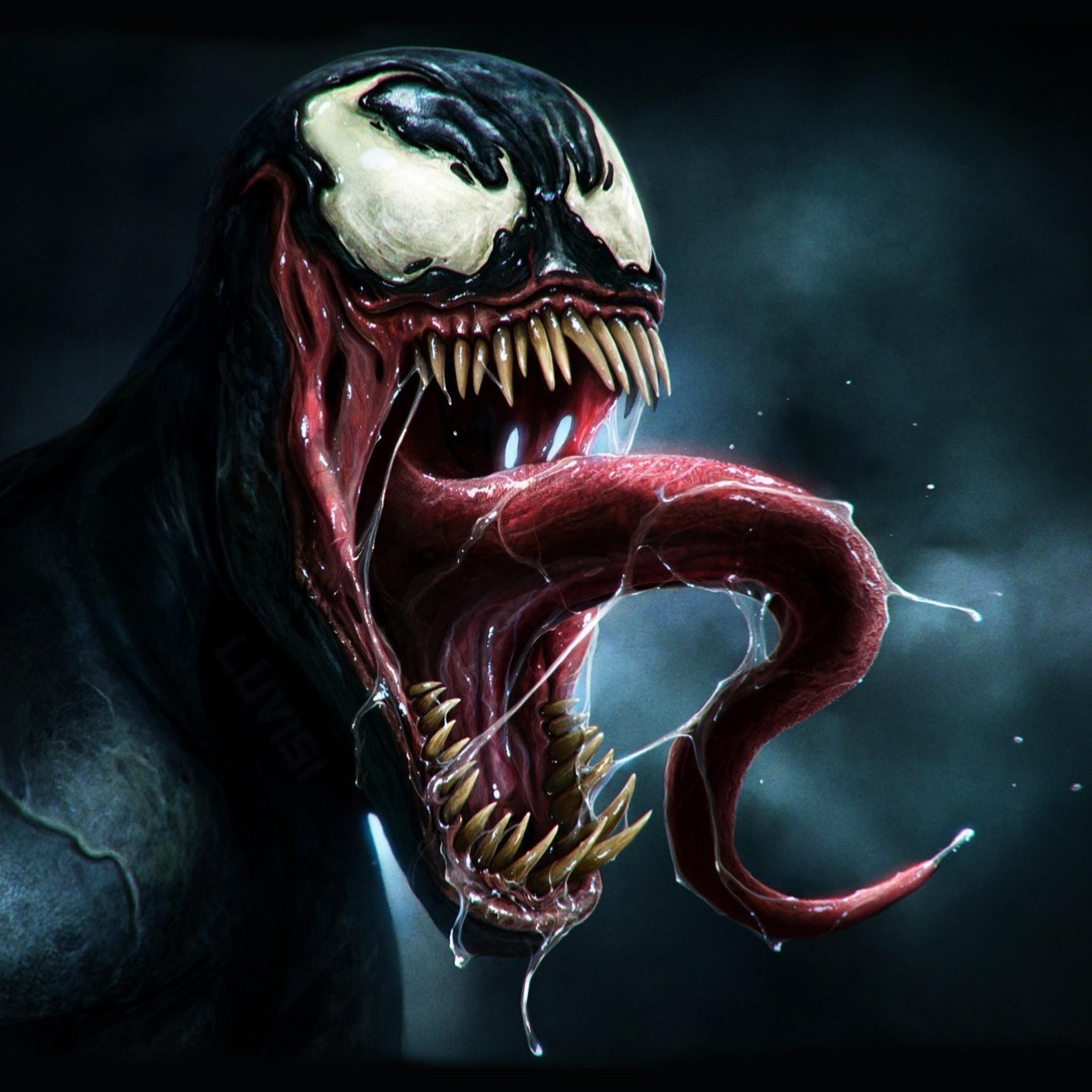 Preview wallpaper venom, marvel comics, art 2048×2048