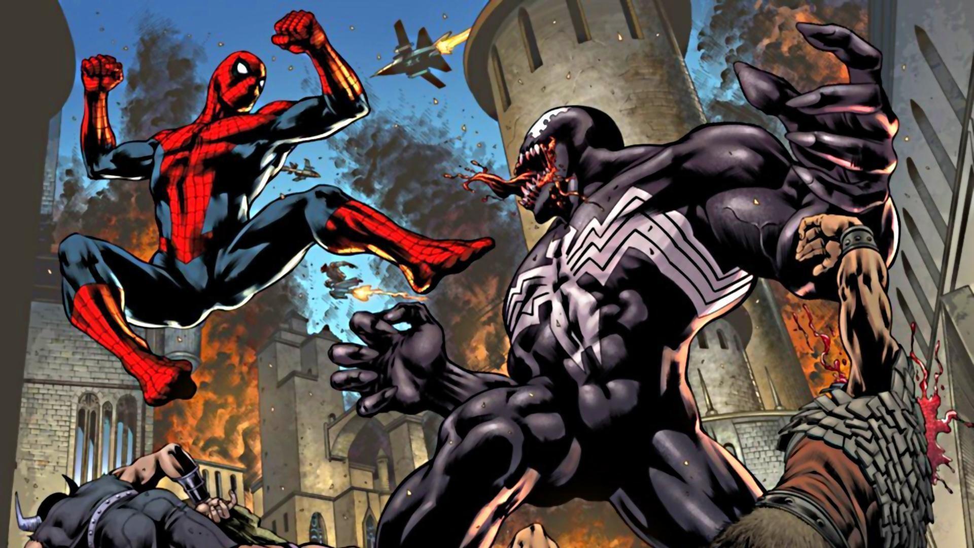 Spiderman Venom Wallpapers Wallpaper Cave