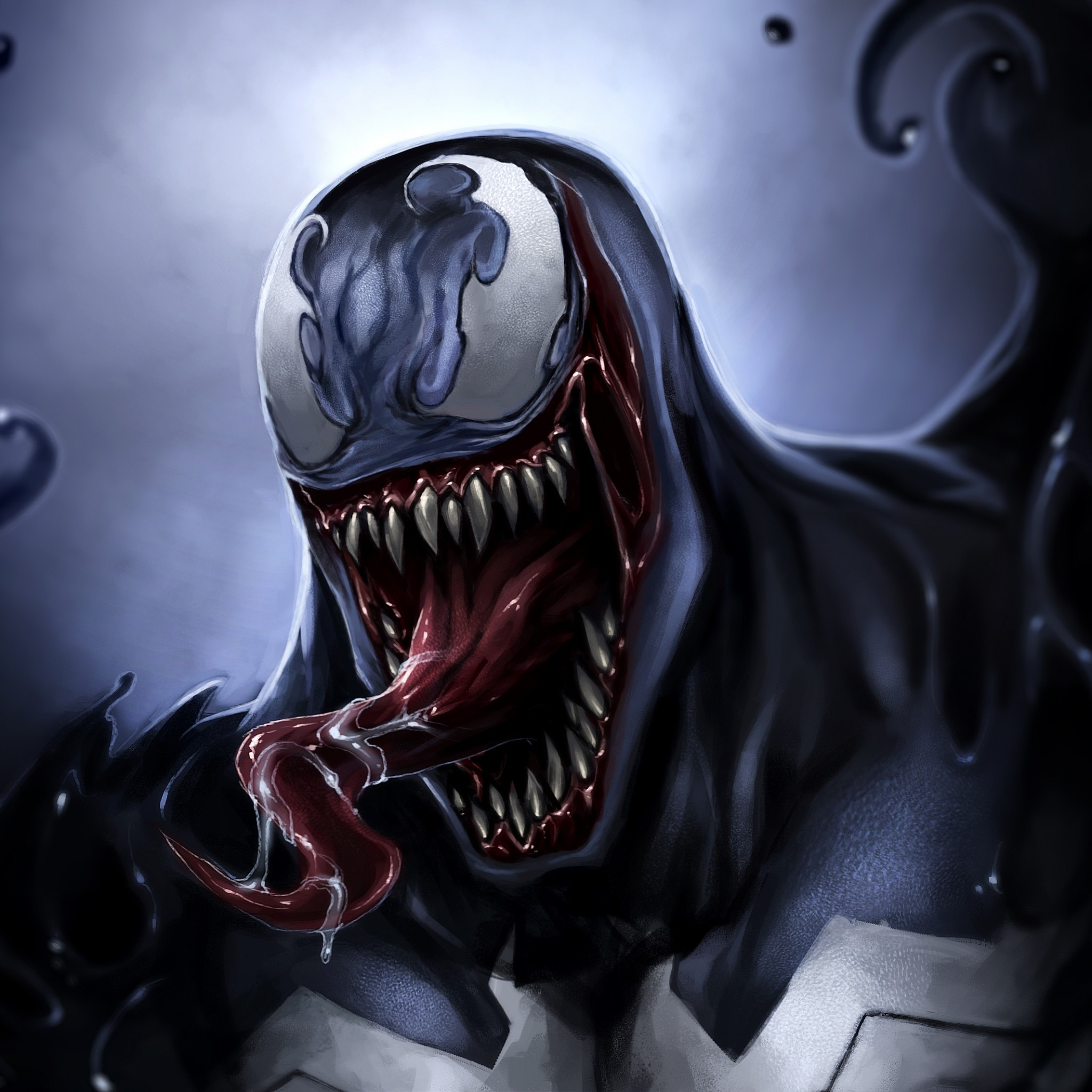 Preview wallpaper venom, eddie brock, art, monster, symbiote 2048×2048