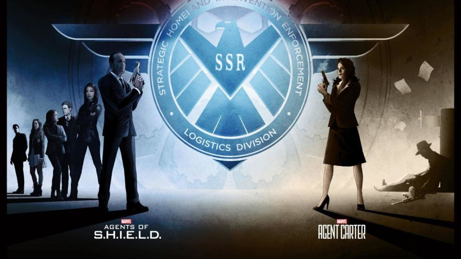 I found an image in one of the news pieces about Agents of S.H.I.E.L.D and  Agent Carter getting renewed and decided to make it a wallpaper.