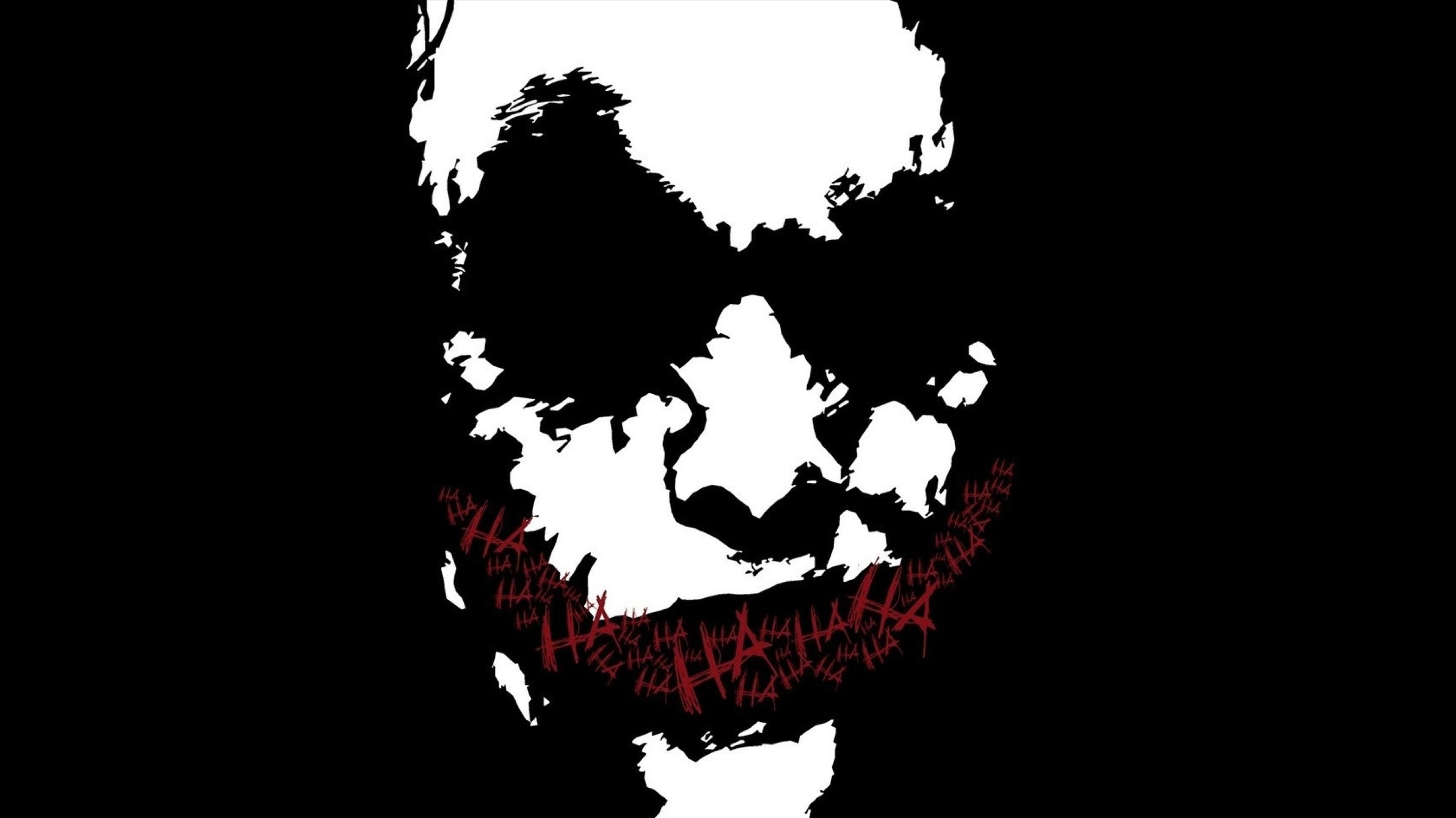 Preview wallpaper joker, drawing, emotion, dark humor 3840×2160