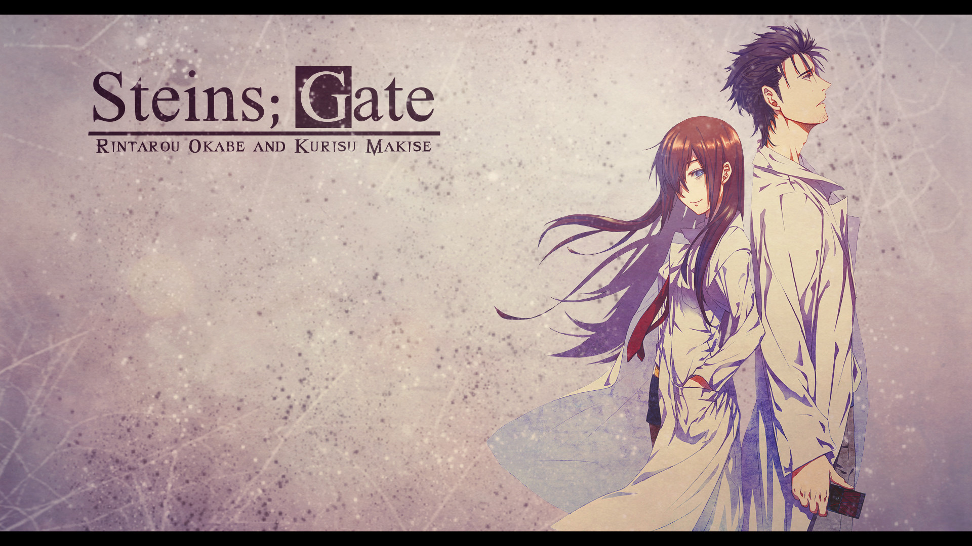 Steins Gate – Okabe and Makise Wallpaper by eaZyHD on DeviantArt