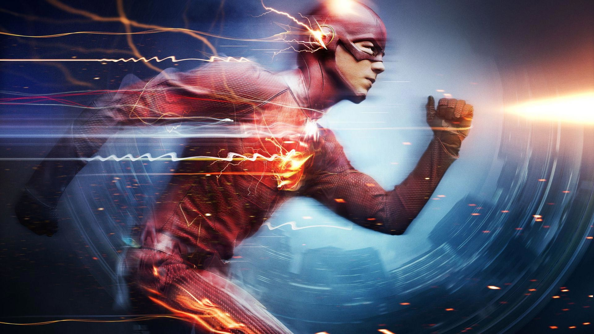 … Barry Allen as The Flash, the fastest man alive, blitzing through the  city using the Speed Force. Also features a cameo from the Reverse Flash,  Zoom.
