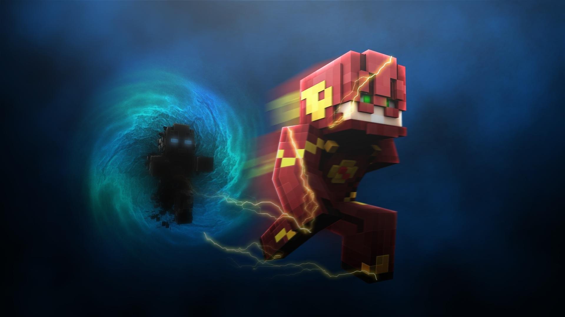 Minecraft : FLASH VS ZOOM – Lucky Block ve Koşu Yarışı & PvP W/ Oyun