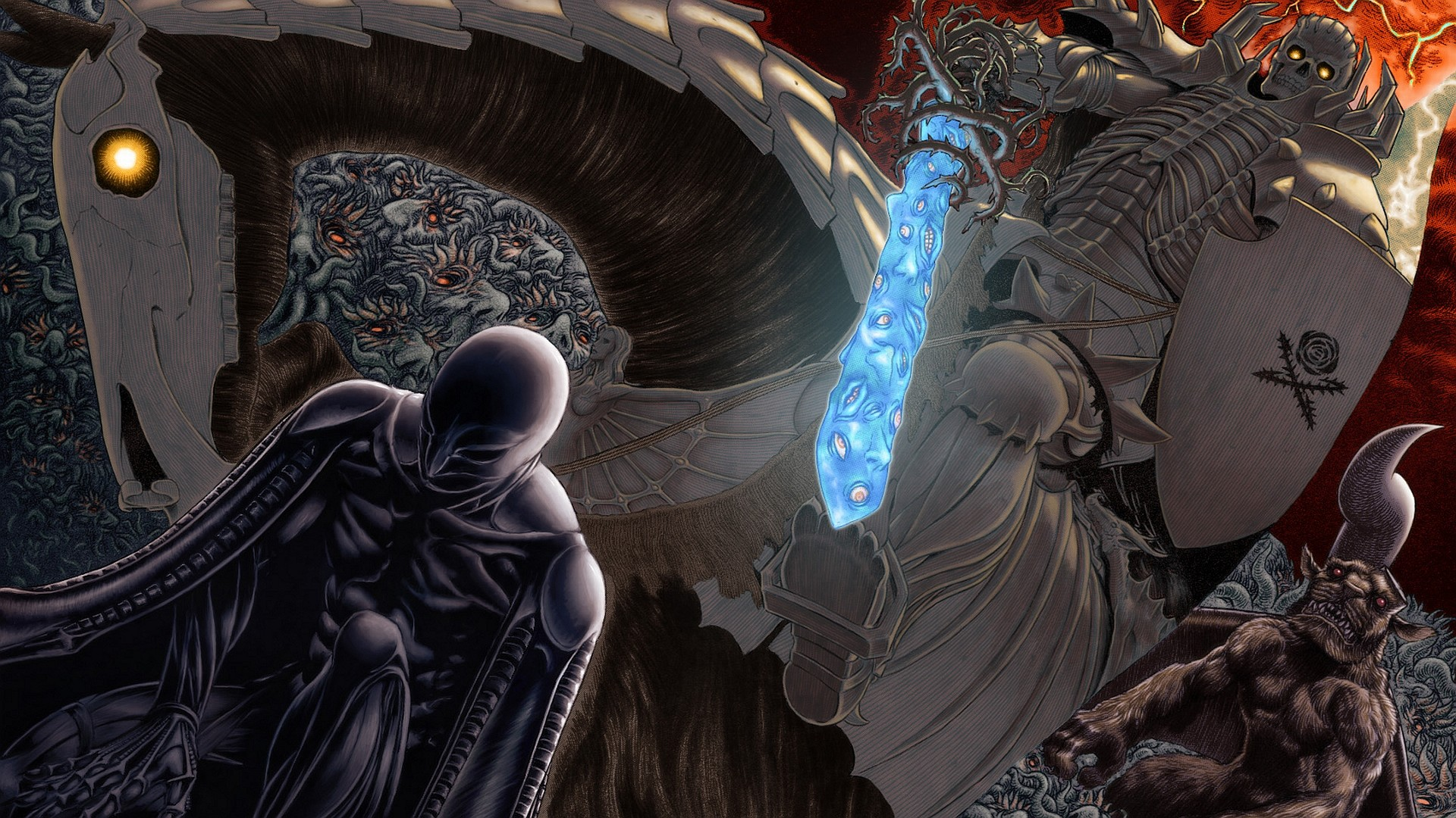 Anime – Berserk Dark Raven Sword Wallpaper