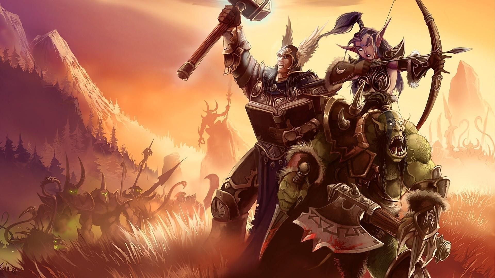 world of warcraft archer warrior berserk art