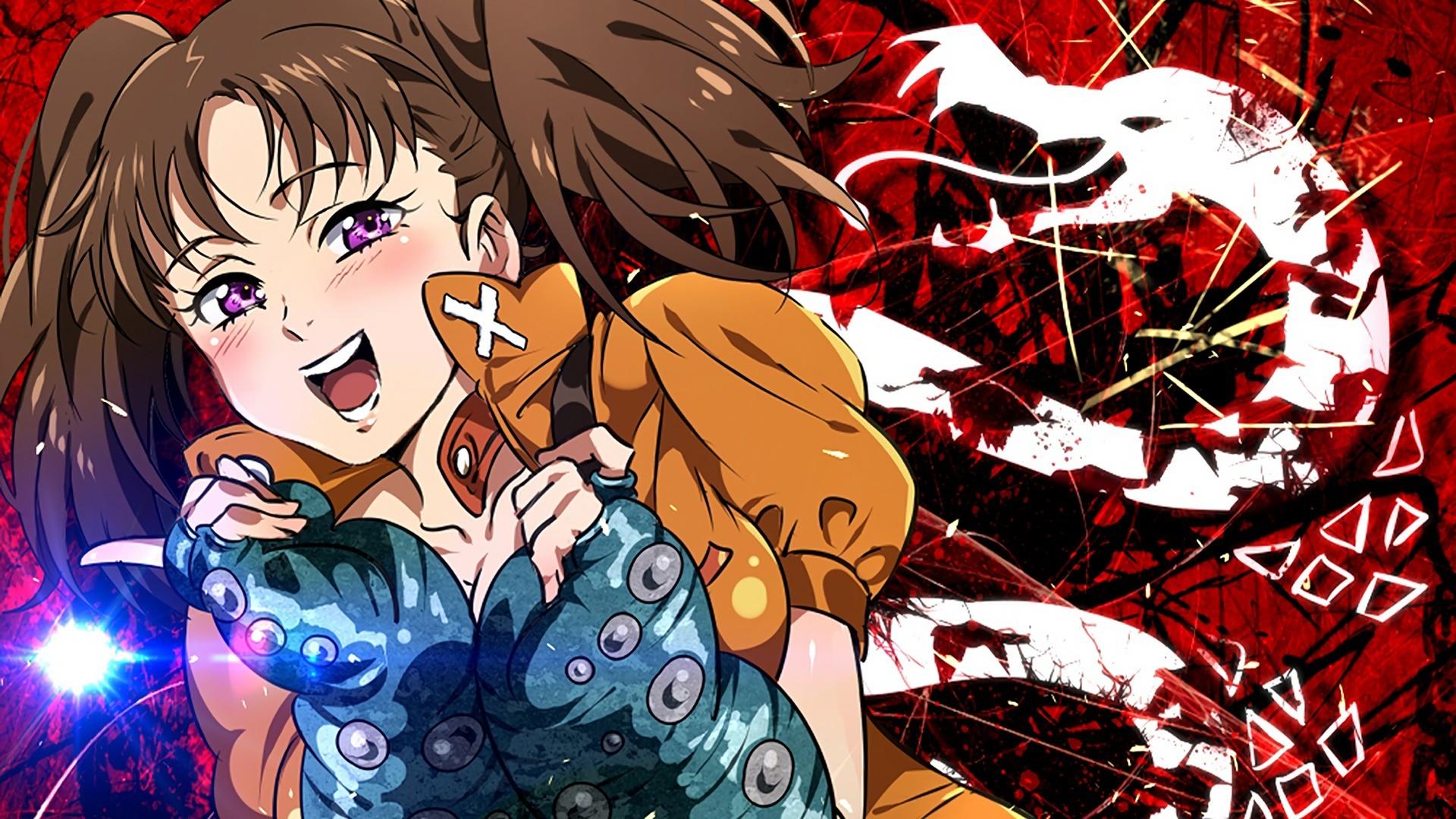 This wallpaper has tags of Diane, Nanatsu No Taizai the Seven Deadly Sins,  Anime, Girls,
