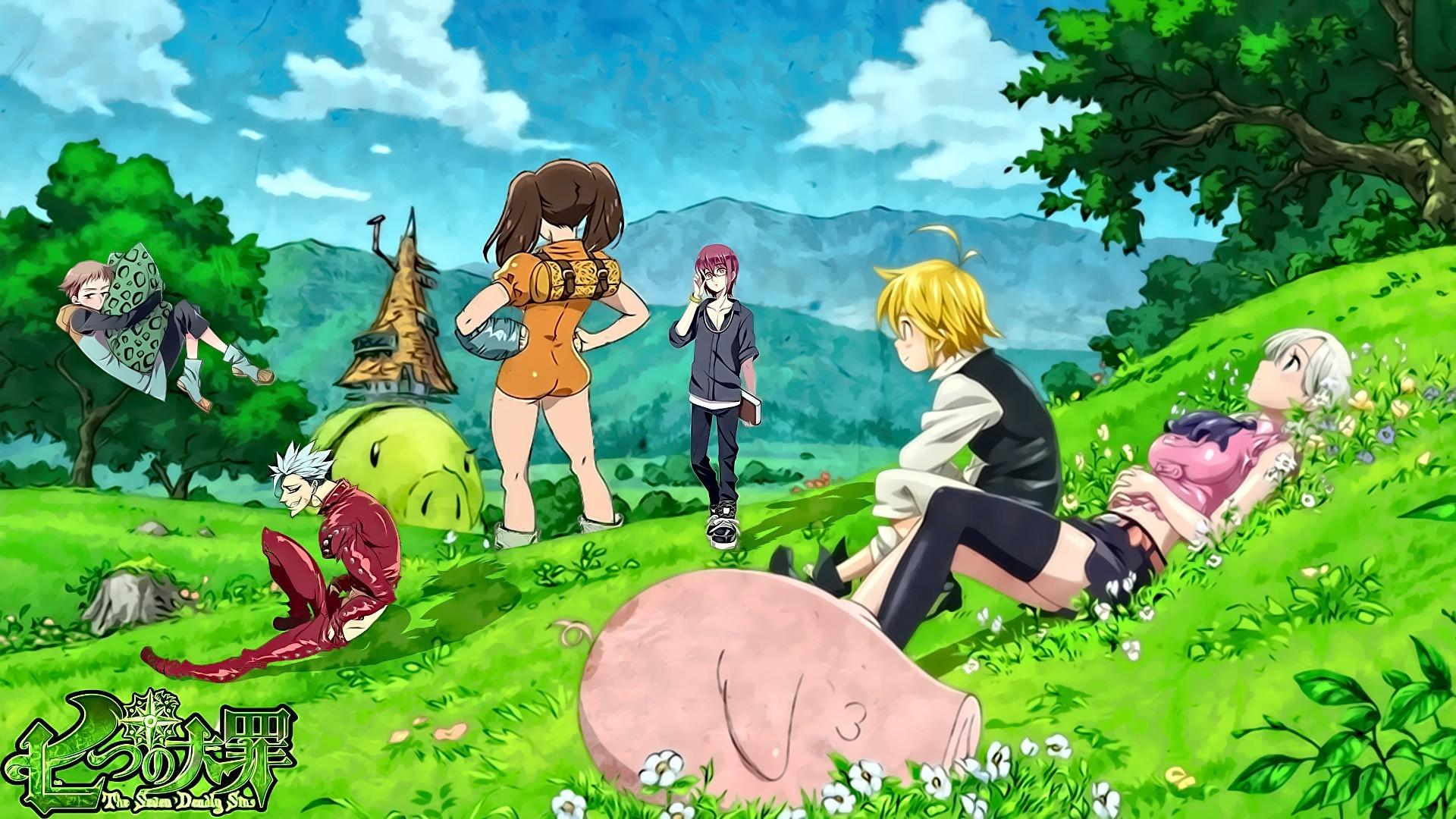Anime Nanatsu no Taizai meliodas Ban Elizabeth Liones Diane (Sin  of Envy) Fairy