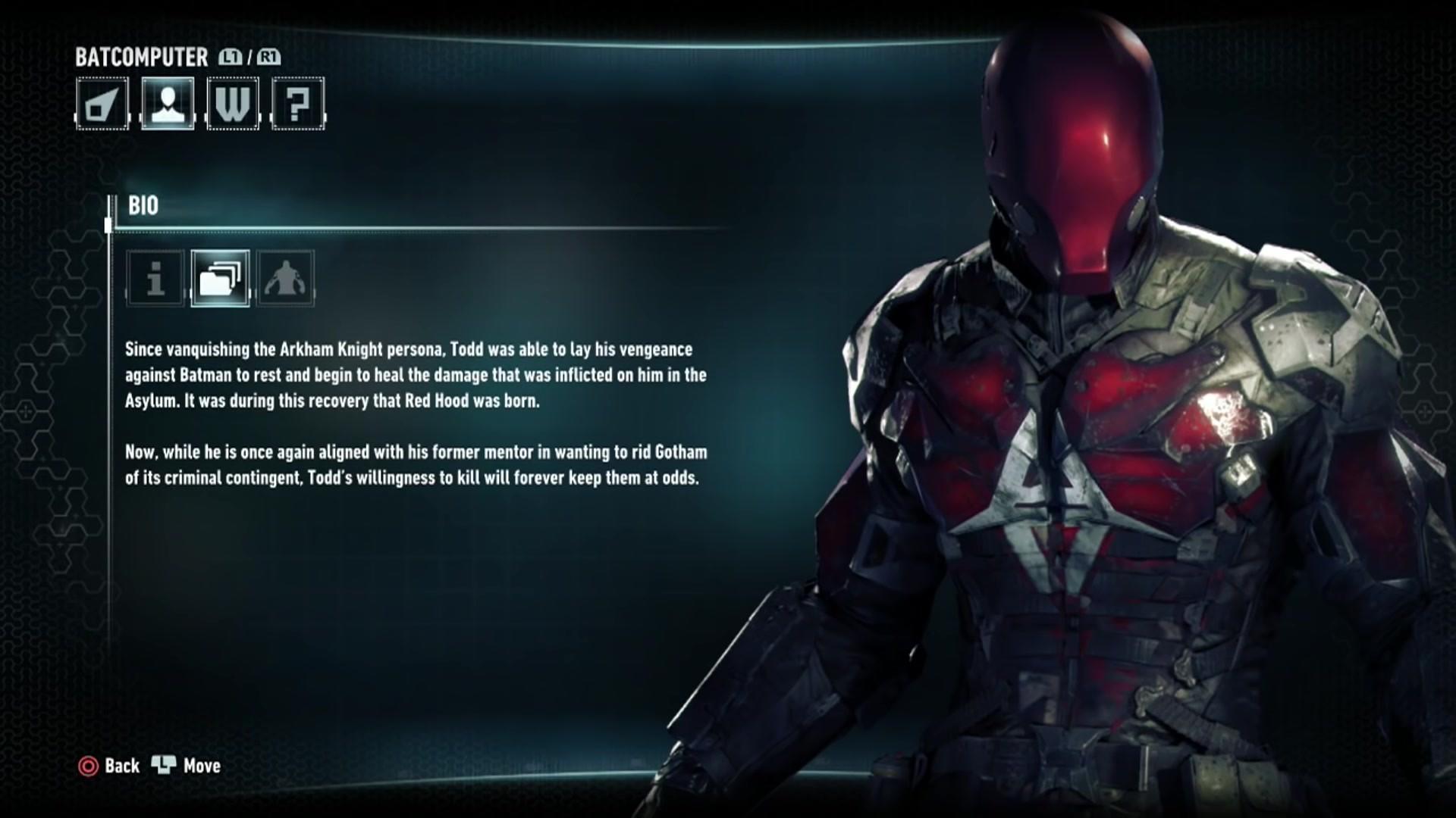 Image – Batman Arkham Knight Character Bios Red Hood.jpg | Batman Wiki |  FANDOM powered by Wikia