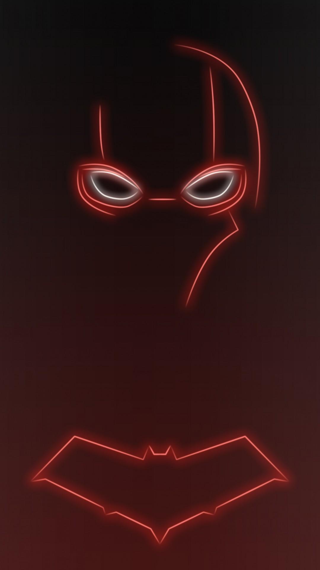 Download Neon Light Red Hood 1080 x 1920 Wallpapers – 4644320 – neon light  superhero comics
