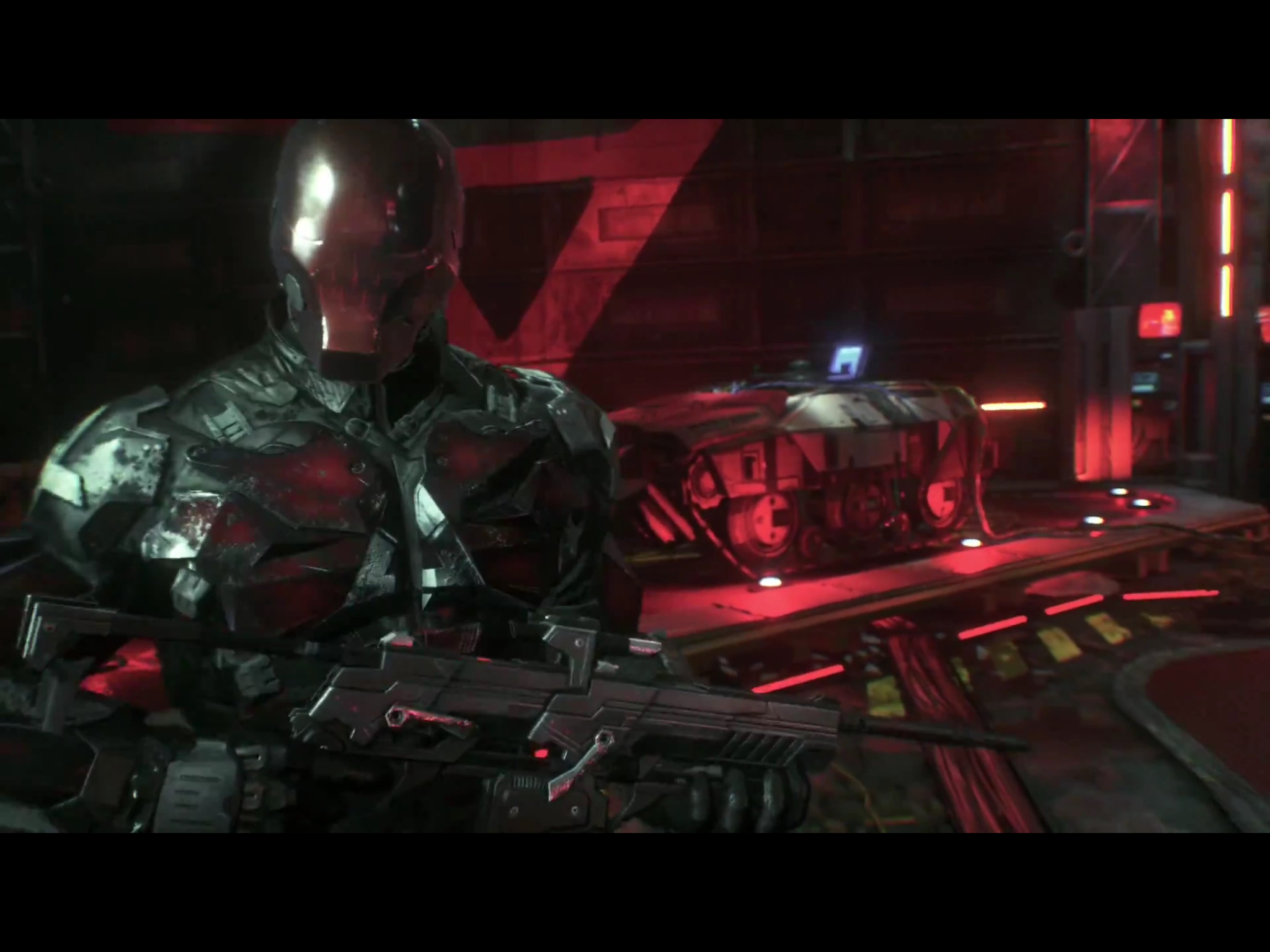 Red hood, Jason Todd. My favorite part of the Arkham Knight reveal is when