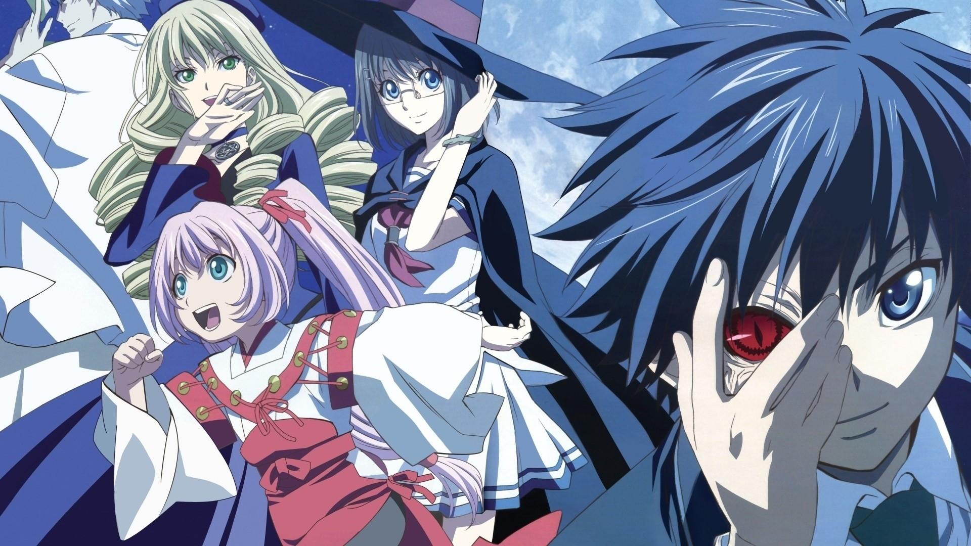 Wallpaper anime, boy, blue, eyes, hair