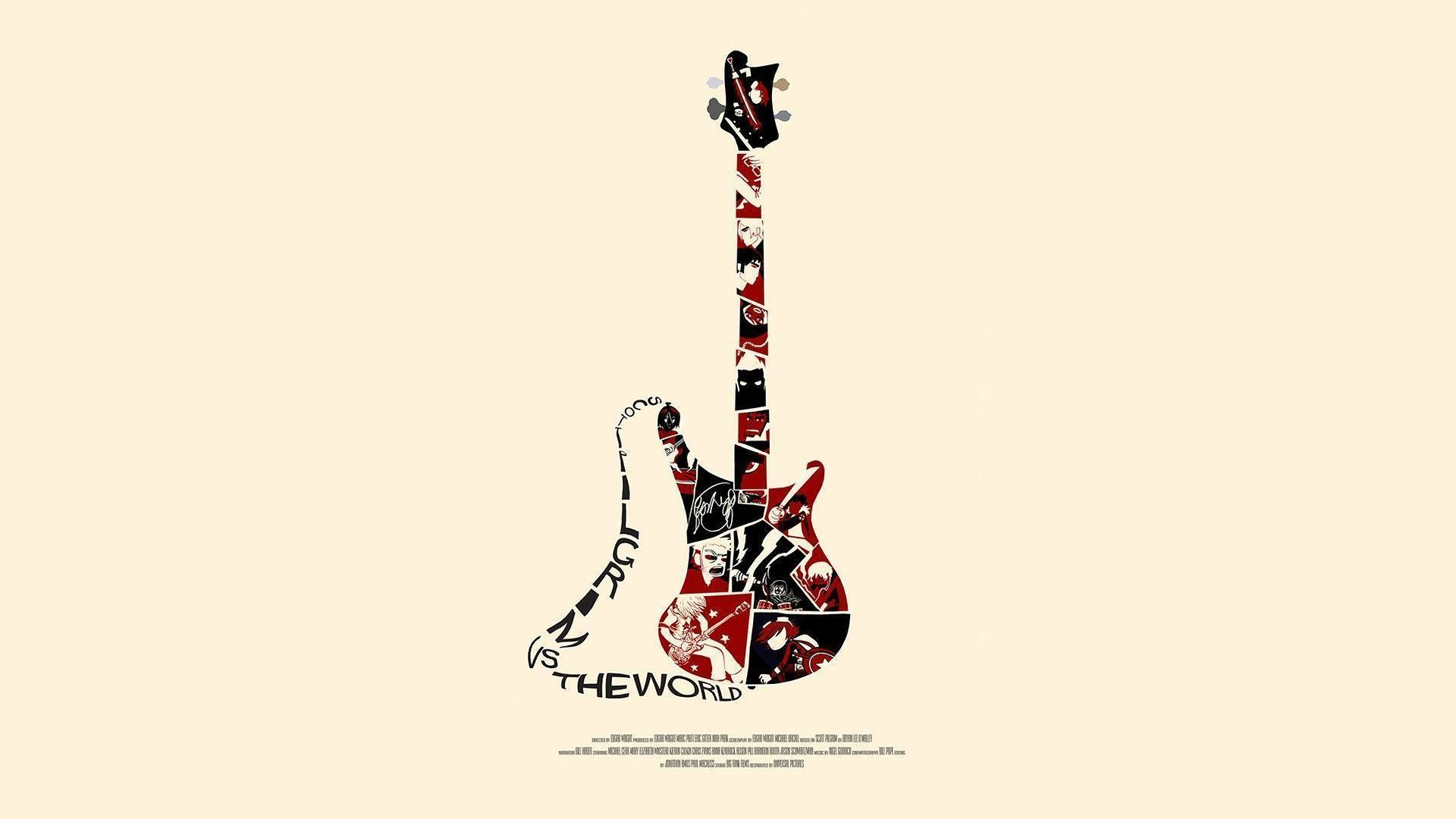 scott pilgrim guitar guitars movie wallpaper 117377