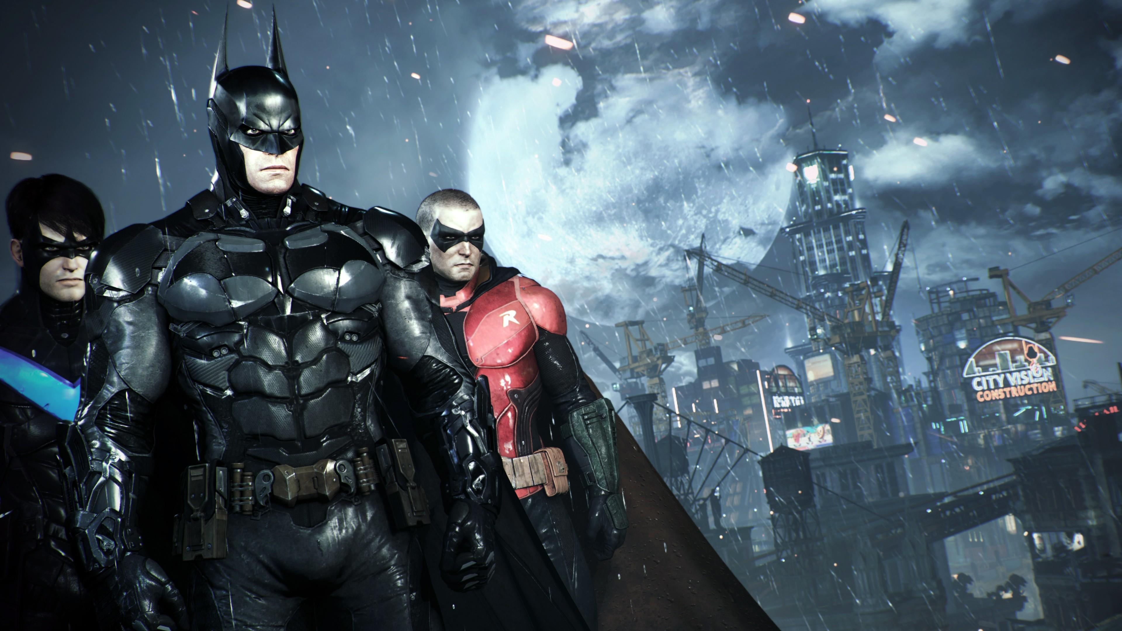 Nightwing Batman Robin in Batman Arkham Knight Wallpaper 4k