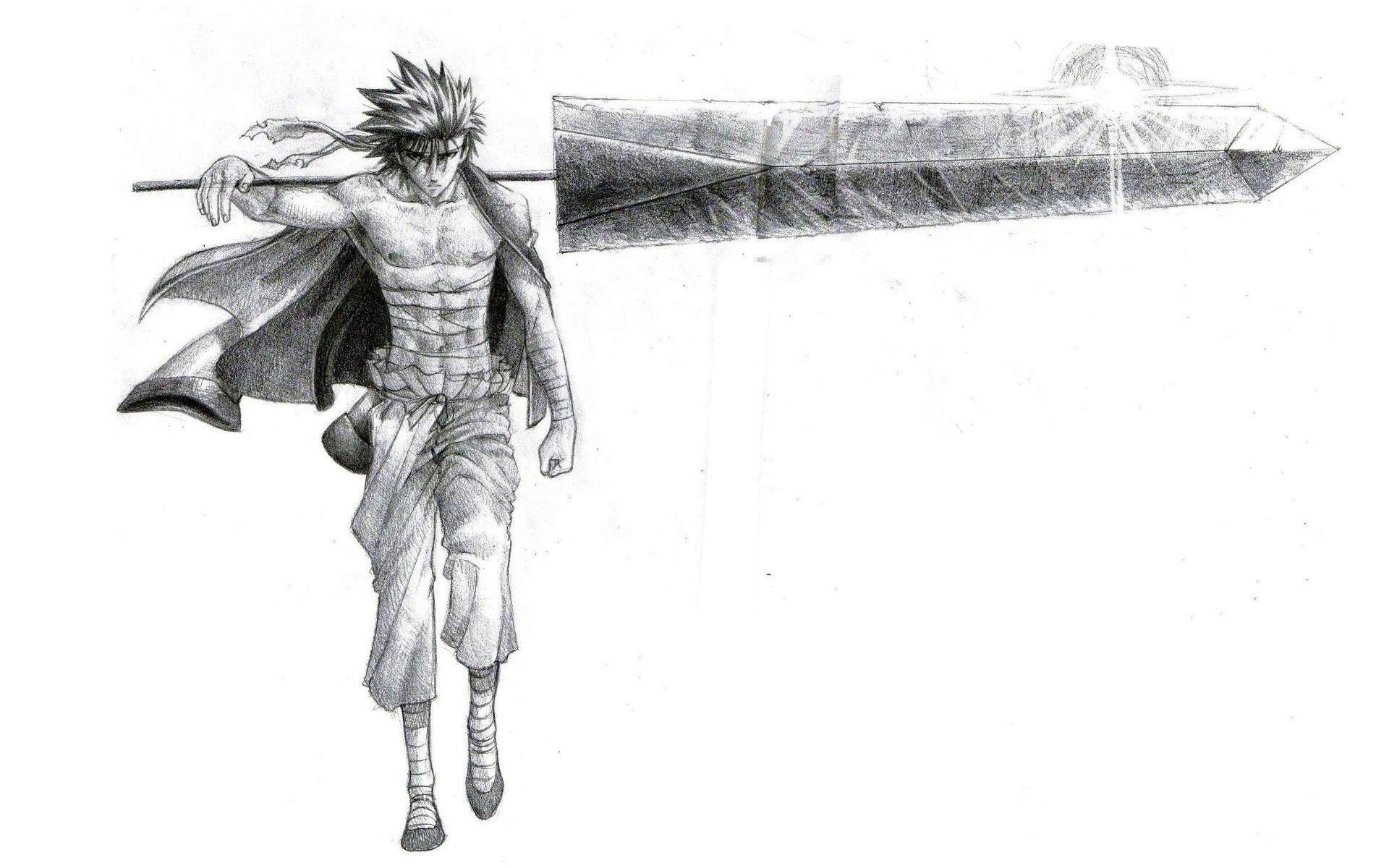 Rurouni Kenshin drawings simple background Sanoskue wallpaper | |  333300 | WallpaperUP