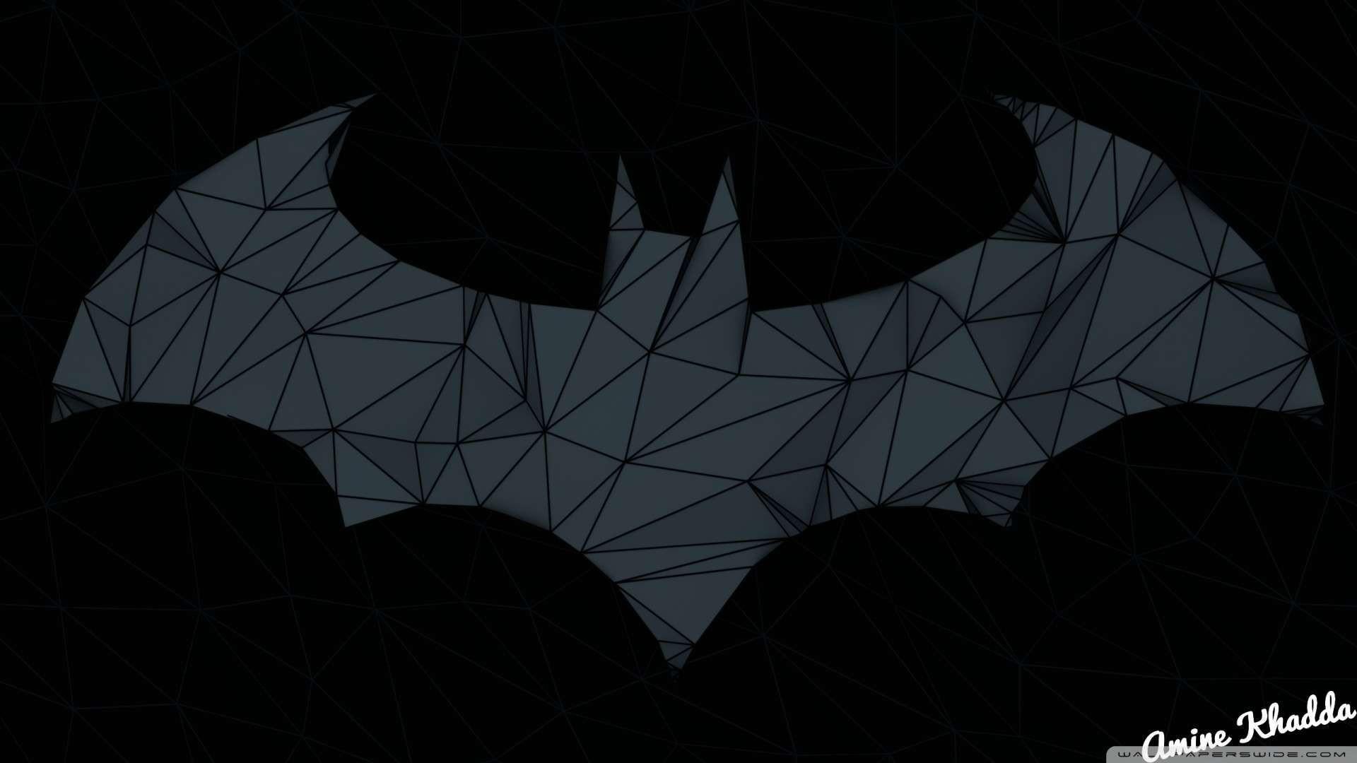Wallpaper: Batman Arkham Origins Low Poly Logo 2 Wallpaper 1080p HD .