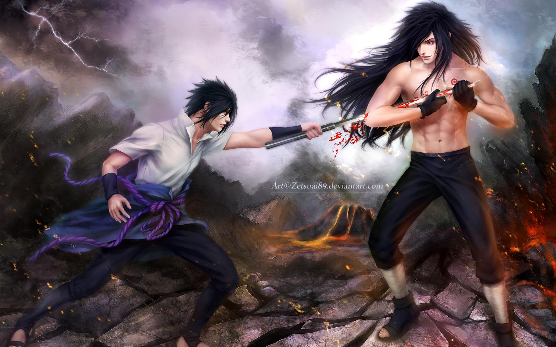 madara uchiha vs sasuke uchiha fighting anime hd wallpaper full .