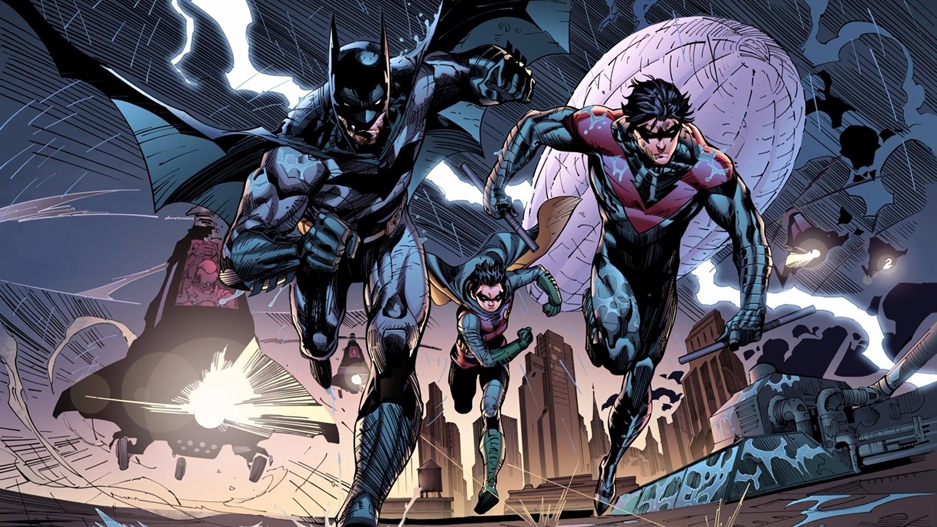 Comics – Batman Nightwing Robin (Batman) Wallpaper