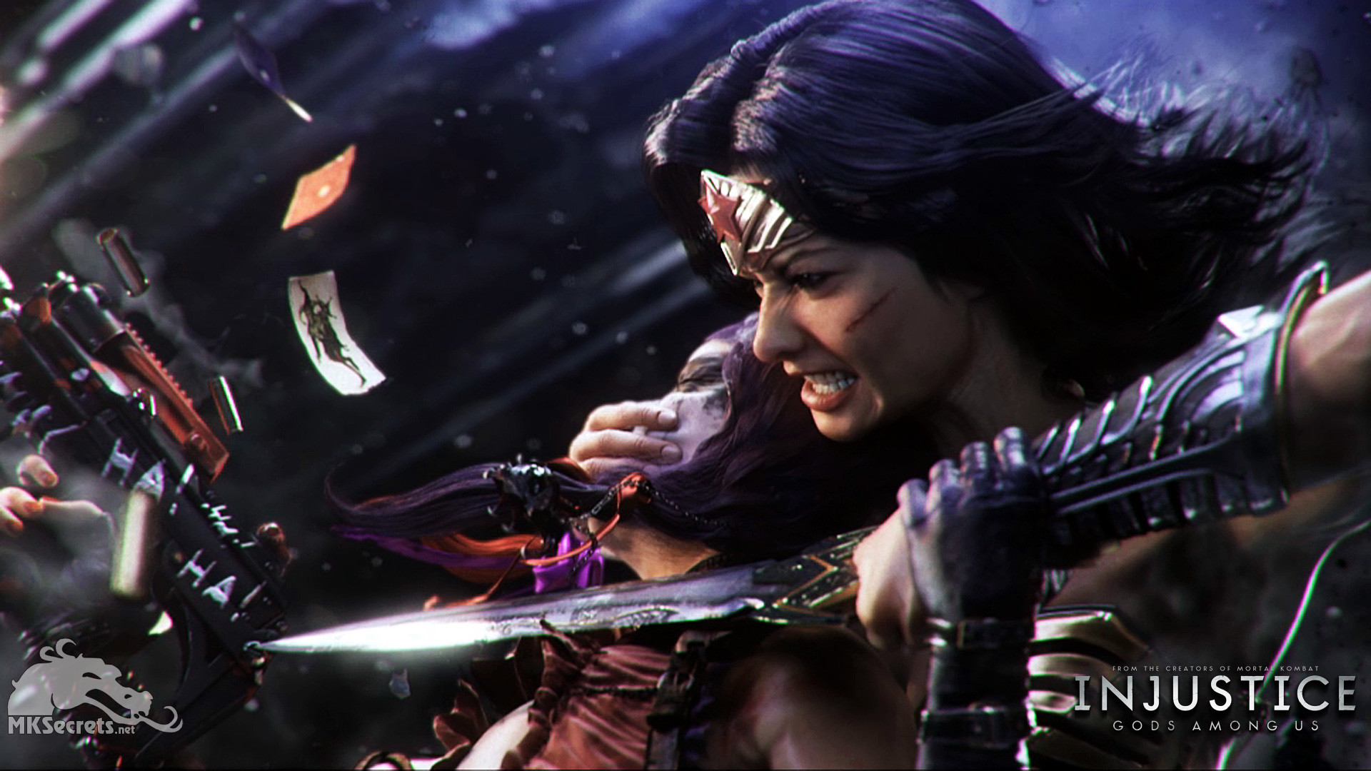 Injustice: Gods Among Us – Wonder Woman and Harley Quinn Wallpaper .