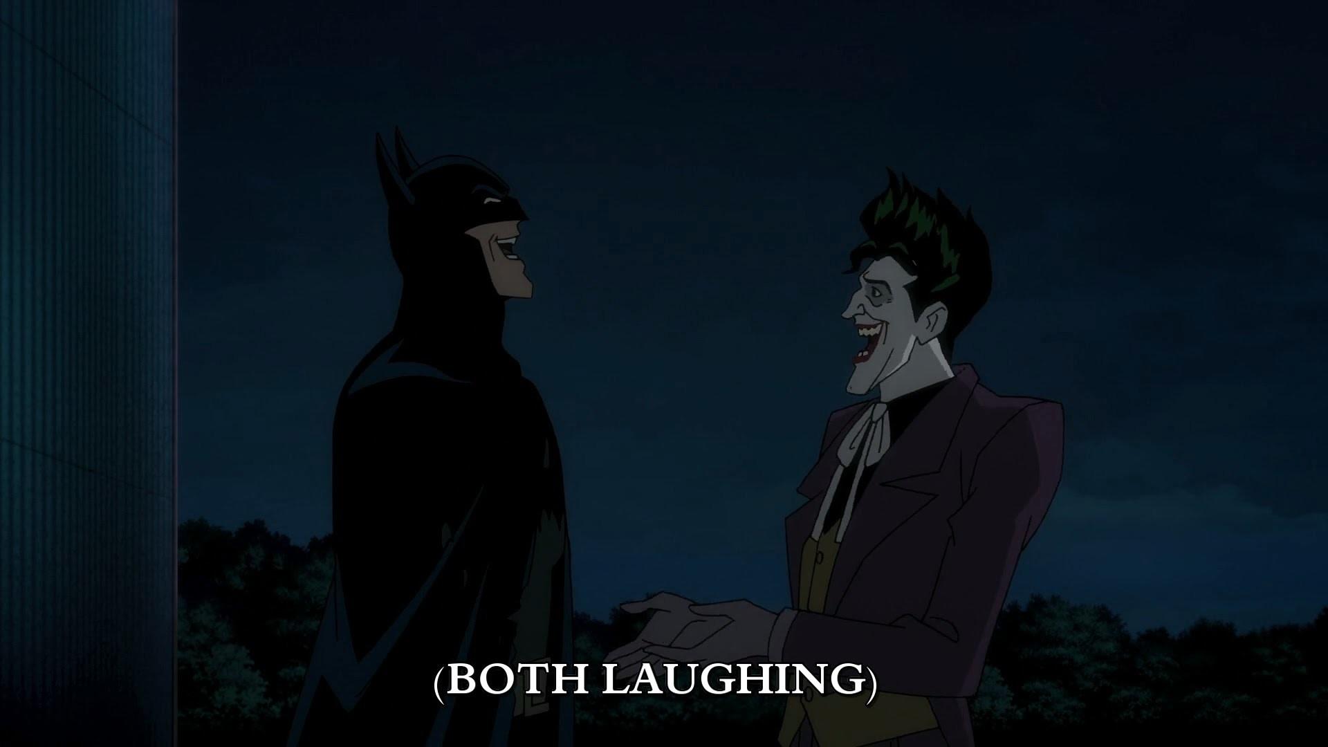 batman laughs with the joker – batman : the killing joke