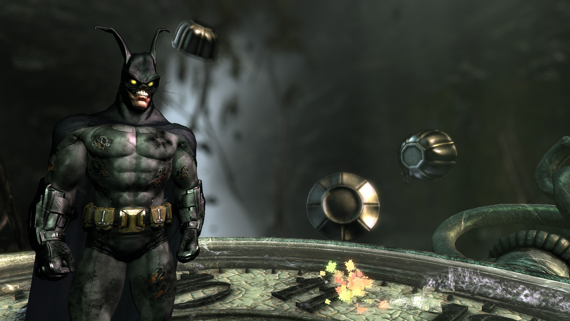 Batman under the effects of the Scarecrow