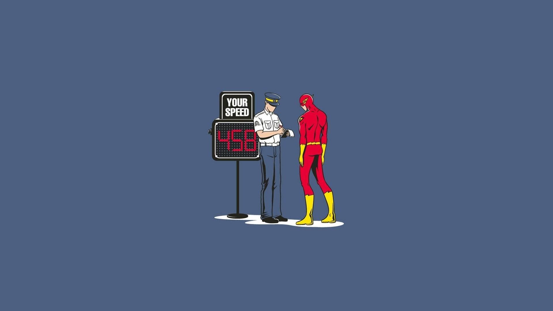 the flash dc comics comics humor adult police super hero speed fine