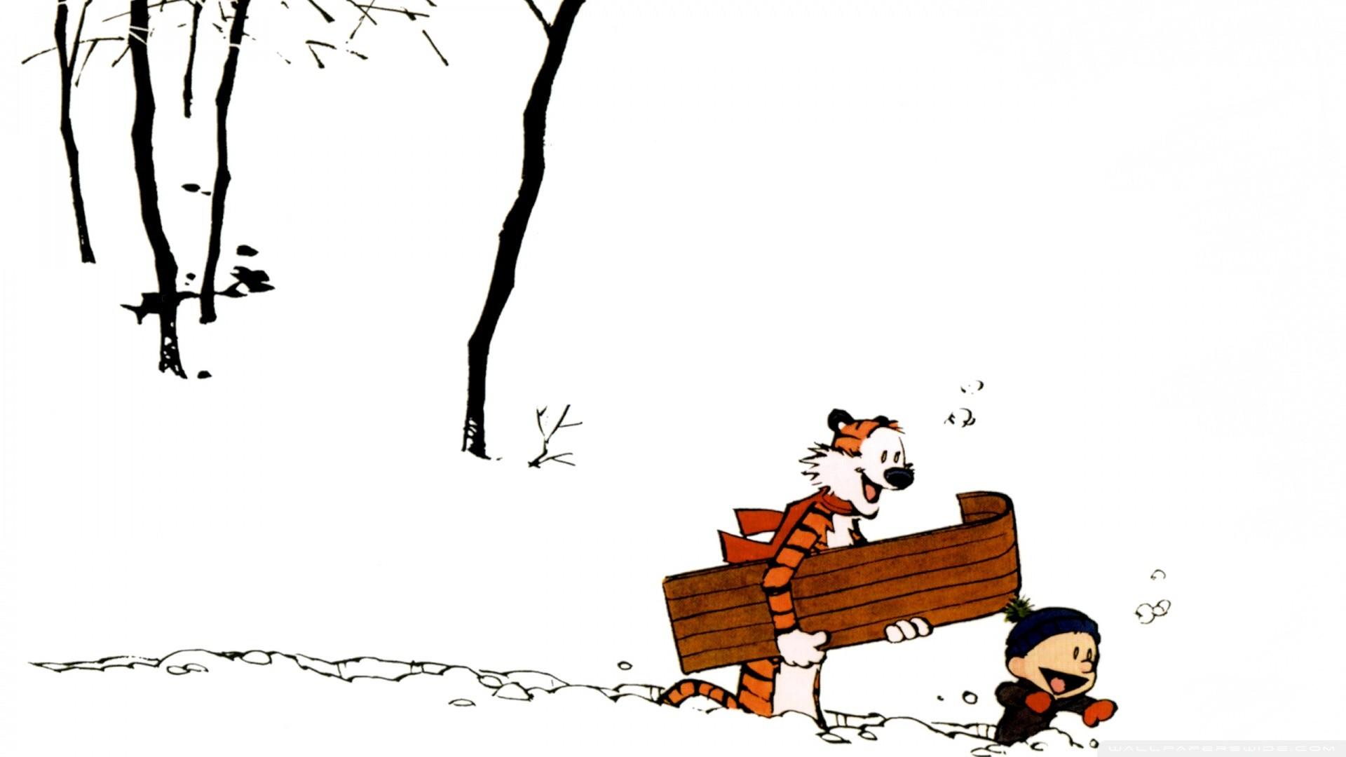 Calvin And Hobbes Winter Wallpaper Calvin, And, Hobbes .