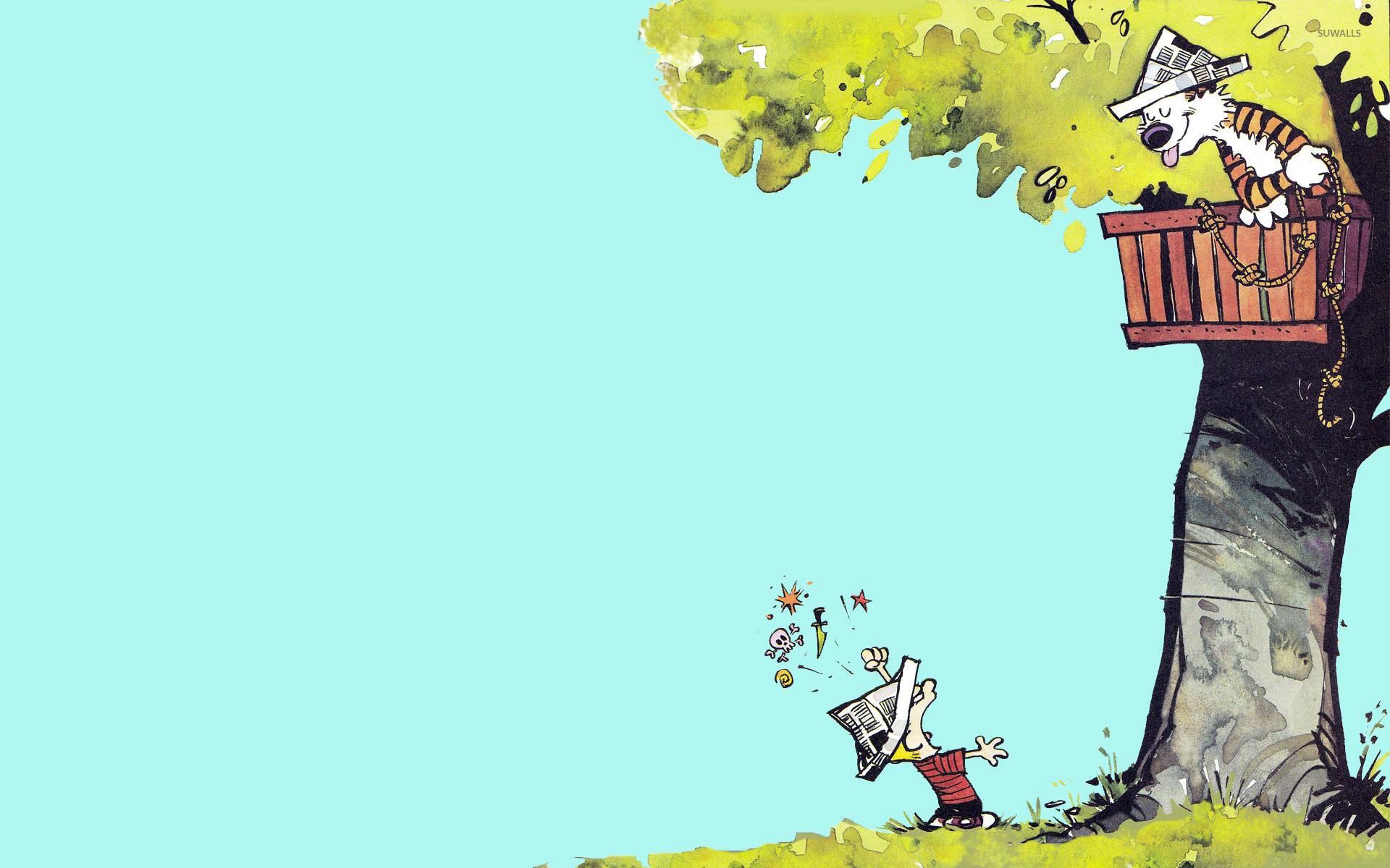 Calvin and Hobbes wallpaper – Cartoon wallpapers – #15320