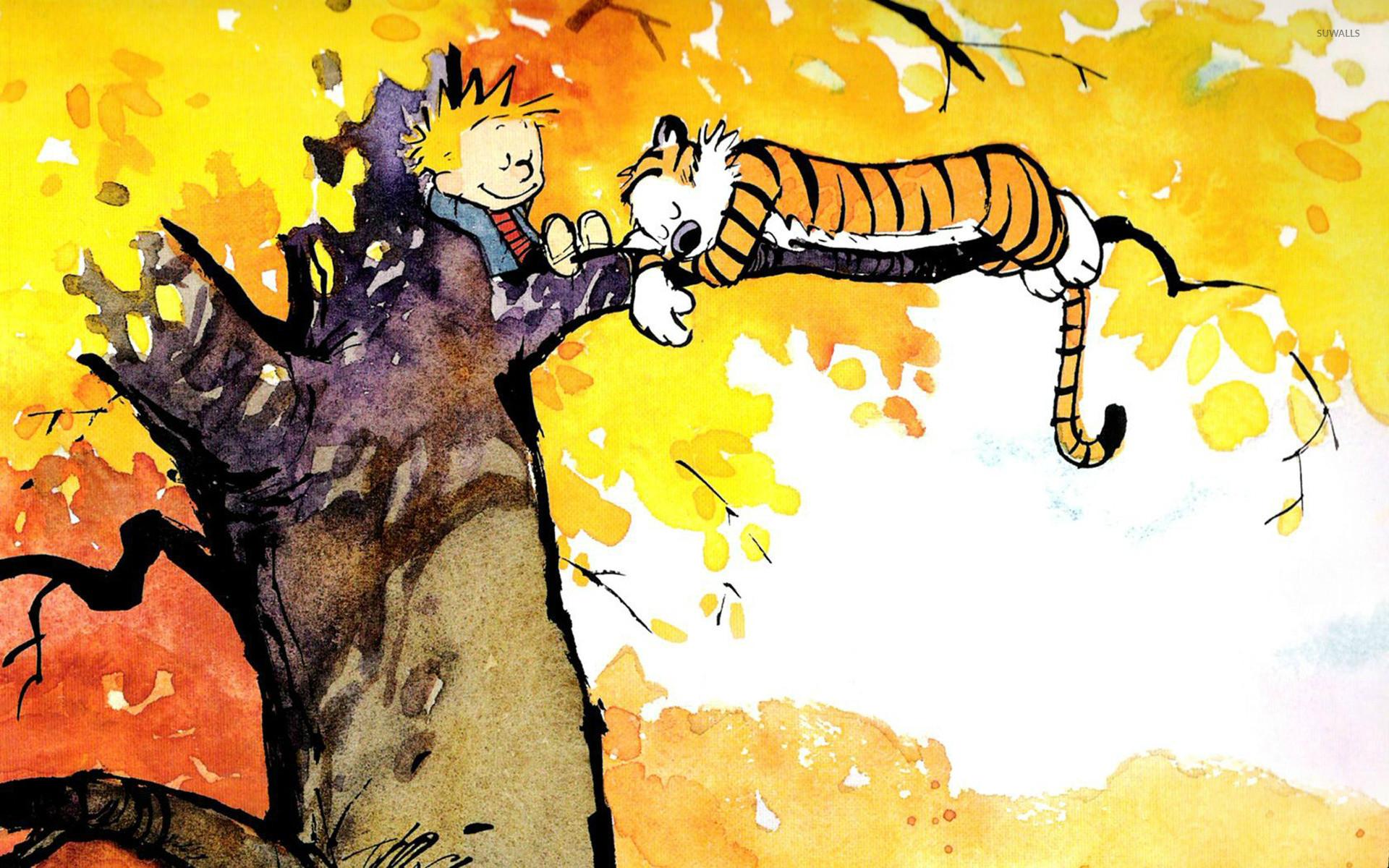 Calvin and Hobbes wallpaper jpg