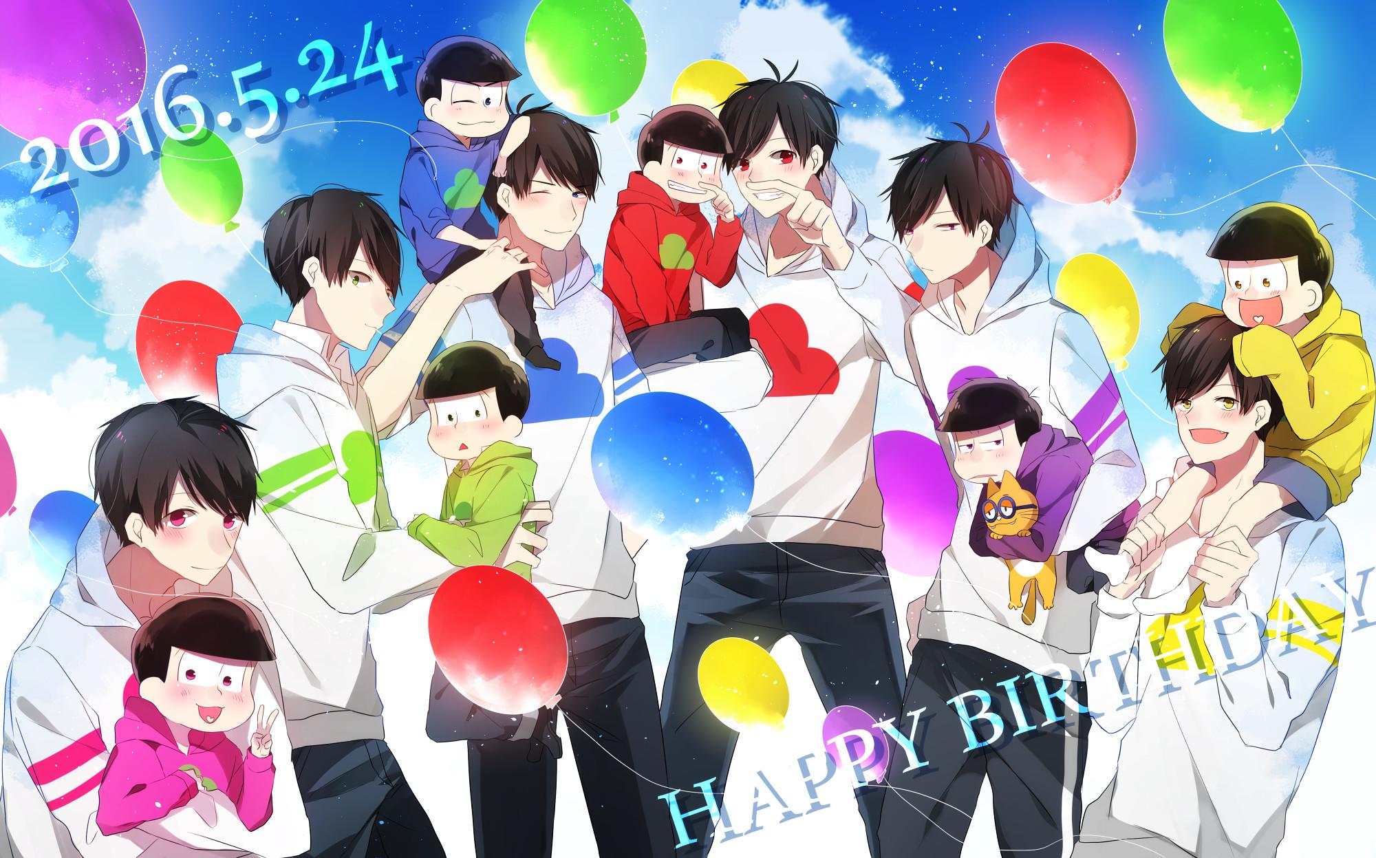 Osomatsu-san – Happy birthday Ichimatsu, Karamatsu, Juushimatsu, Todomatsu,  Choromatsu,