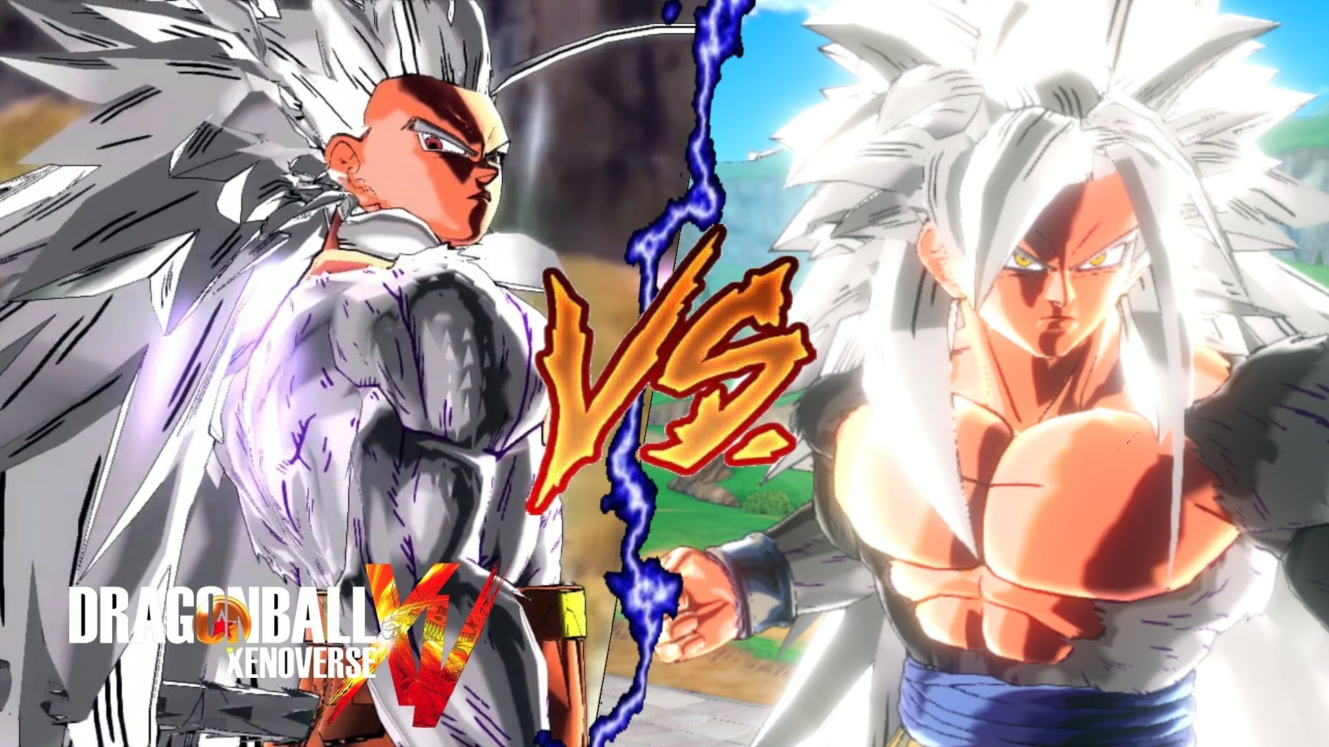 Dragon Ball Xenoverse (PC): Super Saiyan 4 Gohan VS. Super Saiyan 5  Goku【MOD】