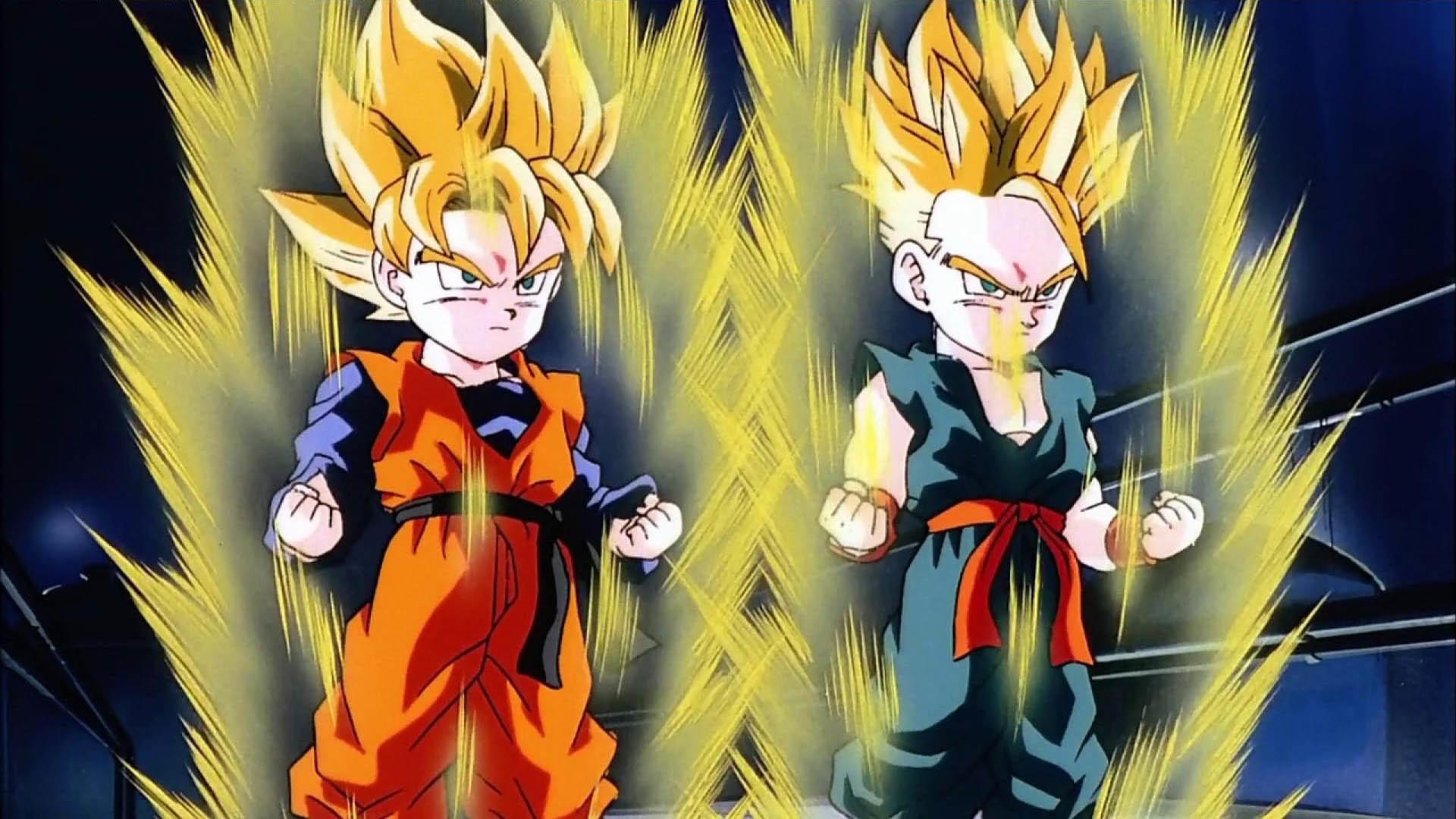 Goten and Trunks Super Saiyans wallpaper