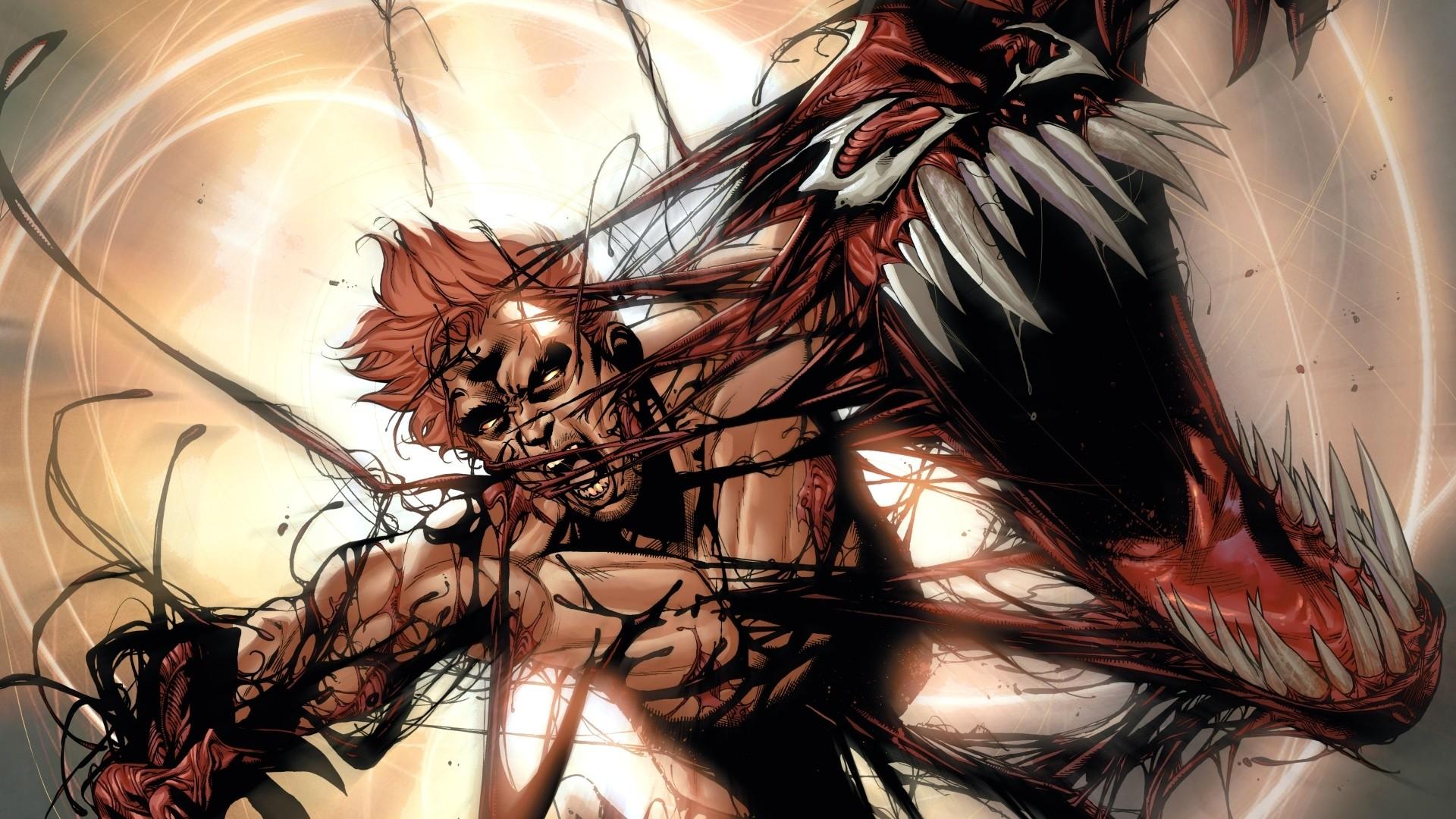 Preview wallpaper carnage, supervillain, marvel comics, art 1920×1080
