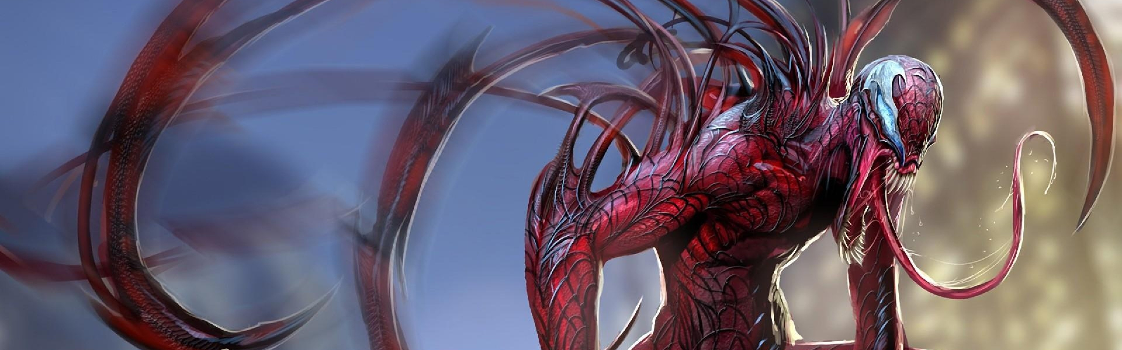 Wallpaper carnage, spider man, language, monster