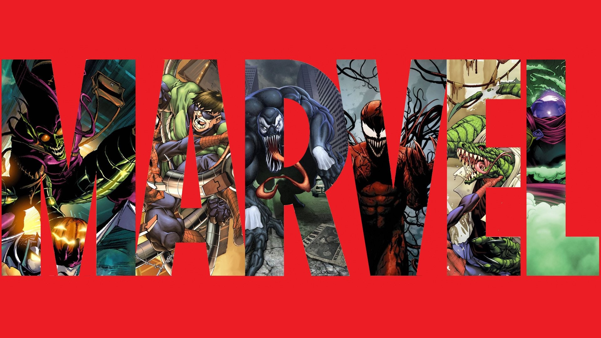 Comics – Marvel Comics Green Goblin Venom Carnage (Marvel) Wallpaper