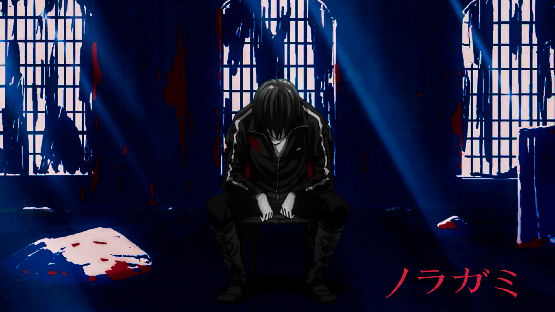 Noragami Deep Red Red Logo