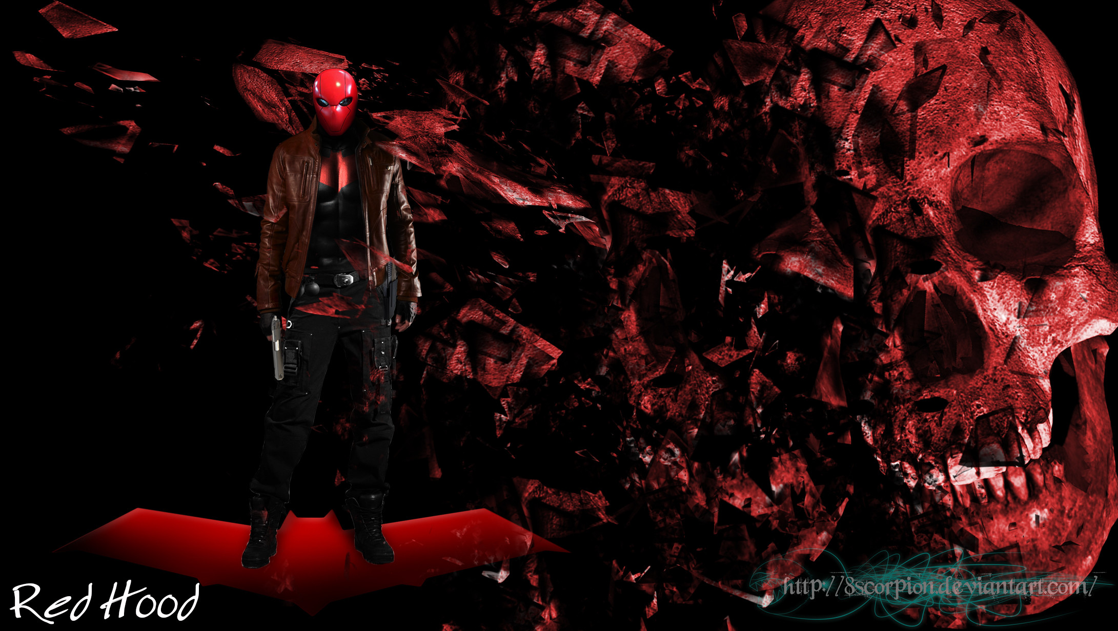 Red Hood Batman wallpaper by 8scorpion Red Hood Batman wallpaper by  8scorpion