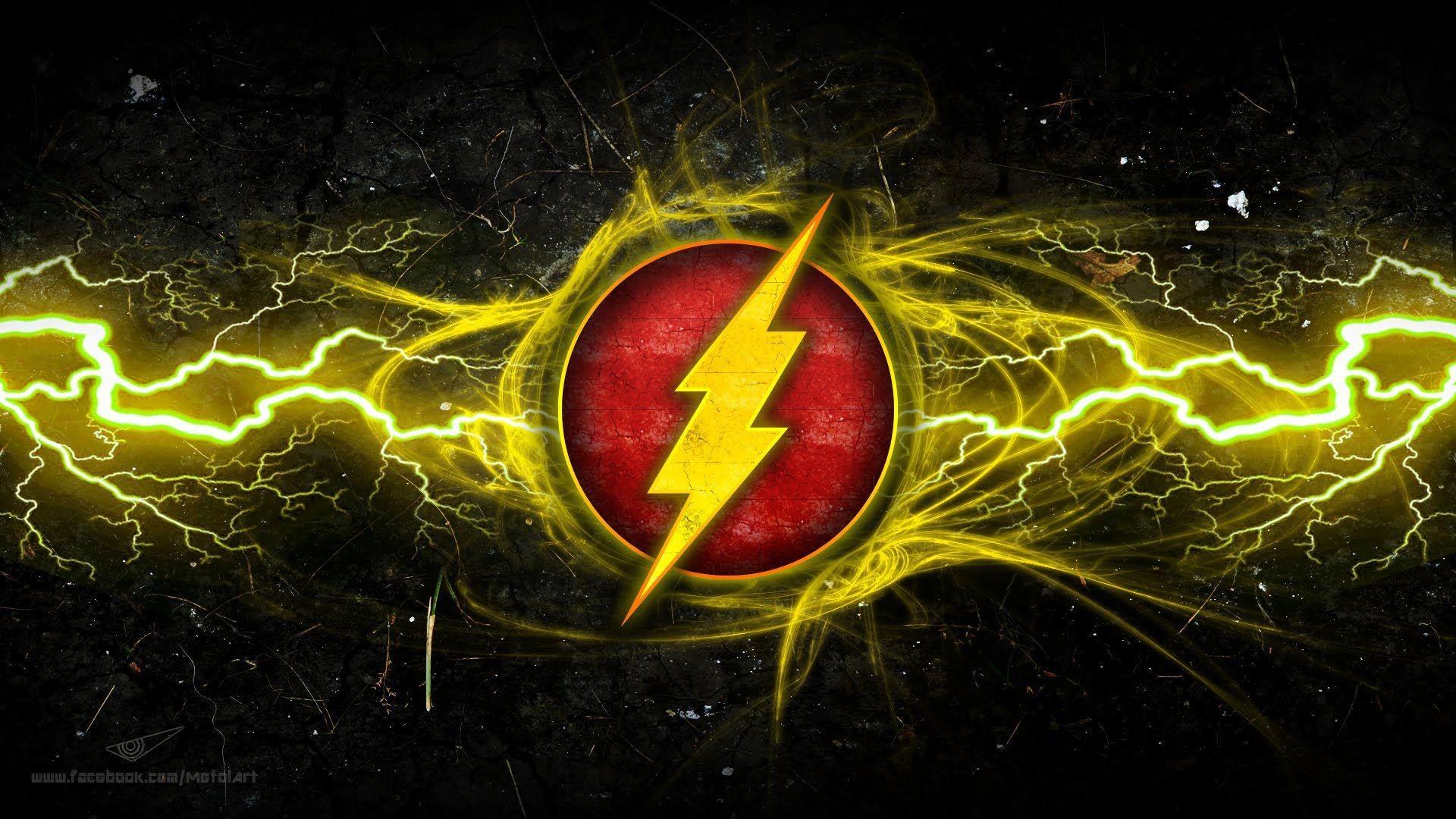 The Flash logo Desktop Wallpapers