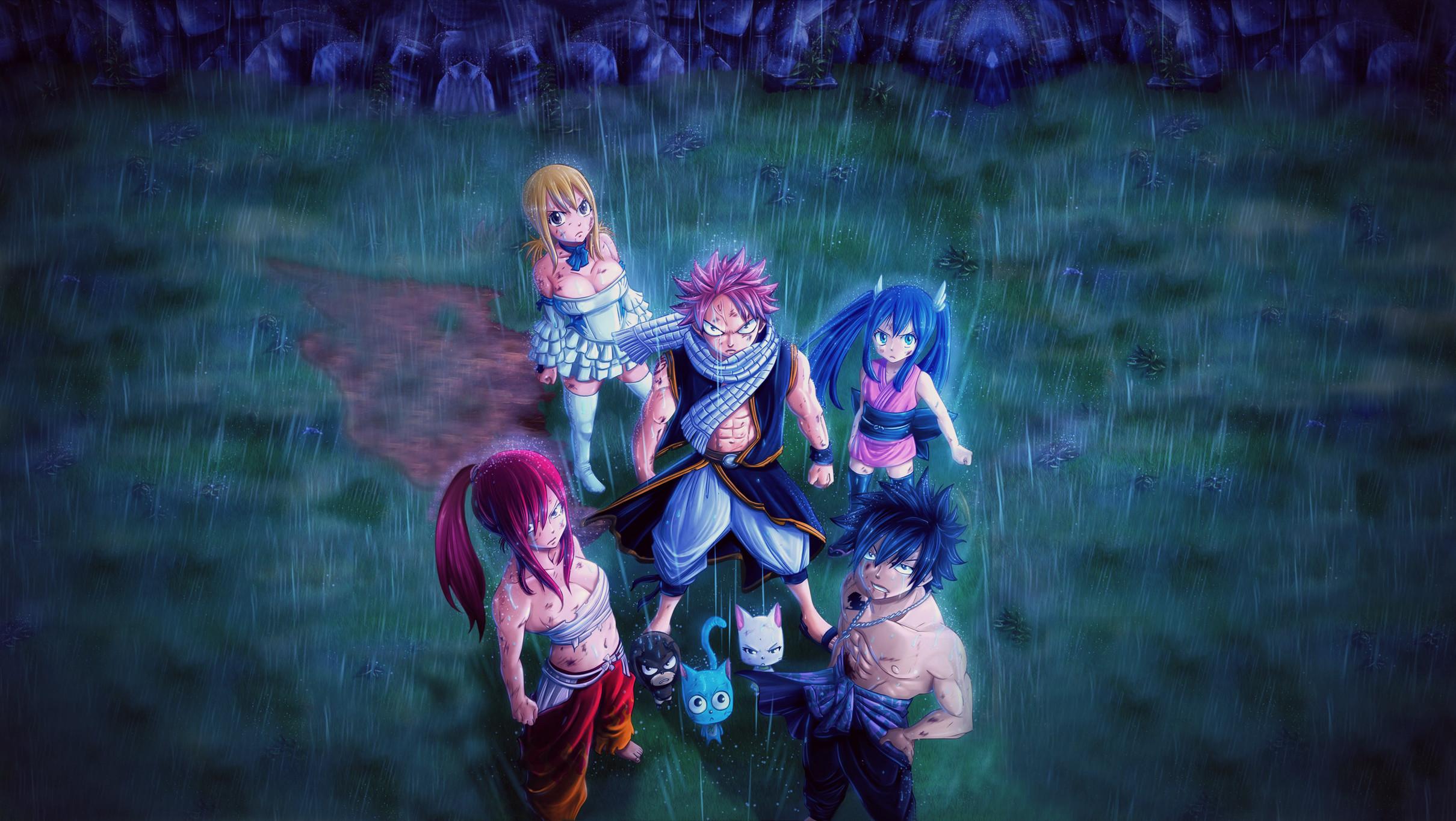 Anime – Fairy Tail Erza Scarlet Wendy Marvell Rain Manga Anime Lucy  Heartfilia Natsu Dragneel Gray