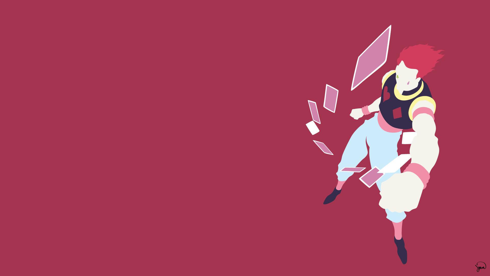 Hisoka (Hunter x Hunter) Minimalista Wallpaper por