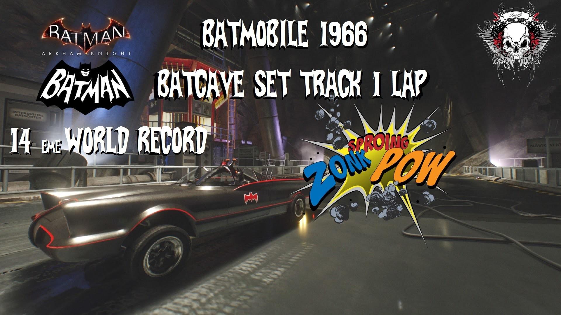 BATMAN™: ARKHAM KNIGHT Batmobile 1966 batcave set track 1lap
