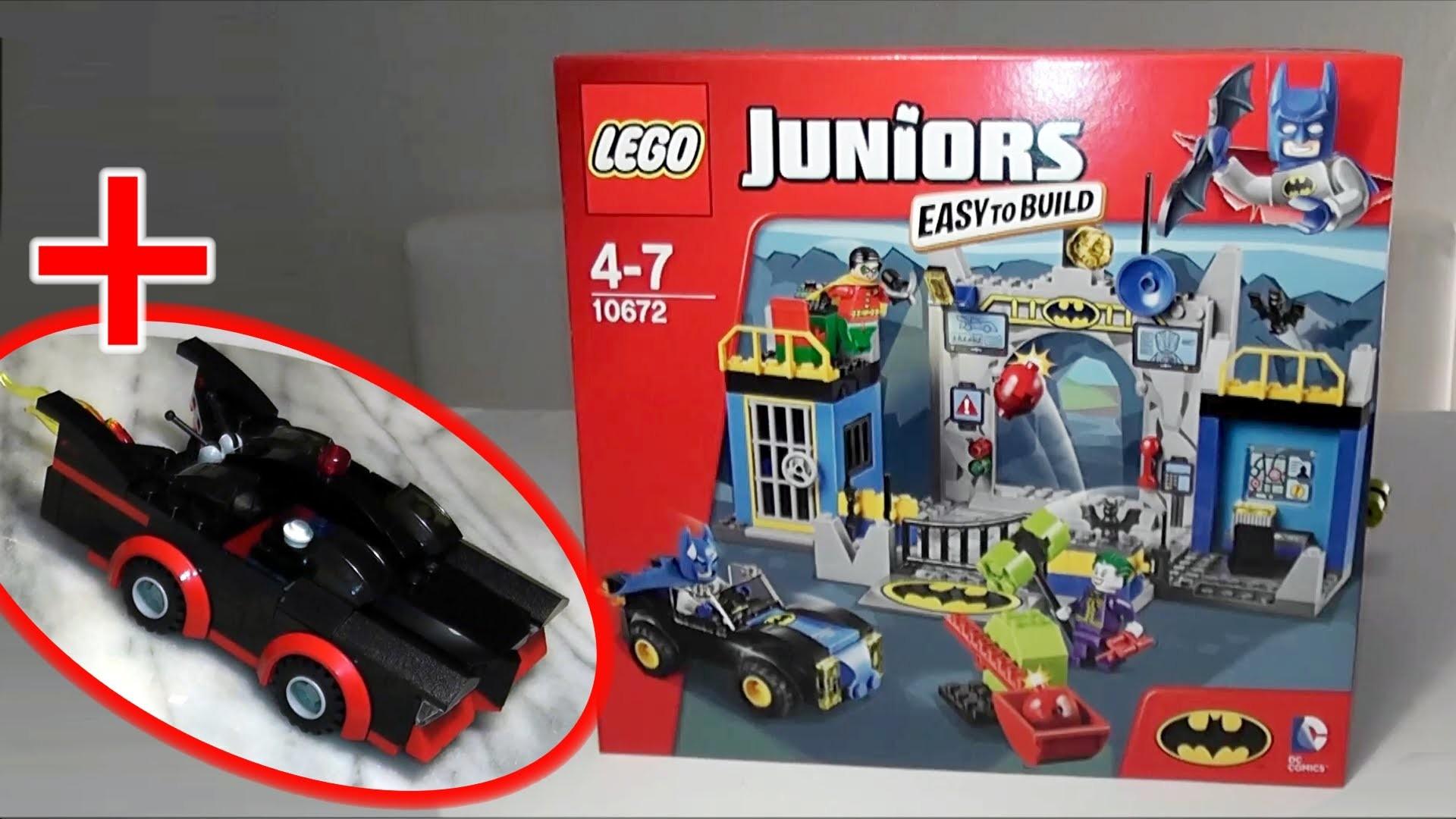 LEGO 10672 Juniors Batman: Verteidigung der Bath̦hle + 2014 SDCC-1966  Batmobile РReview deutsch РРYouTube