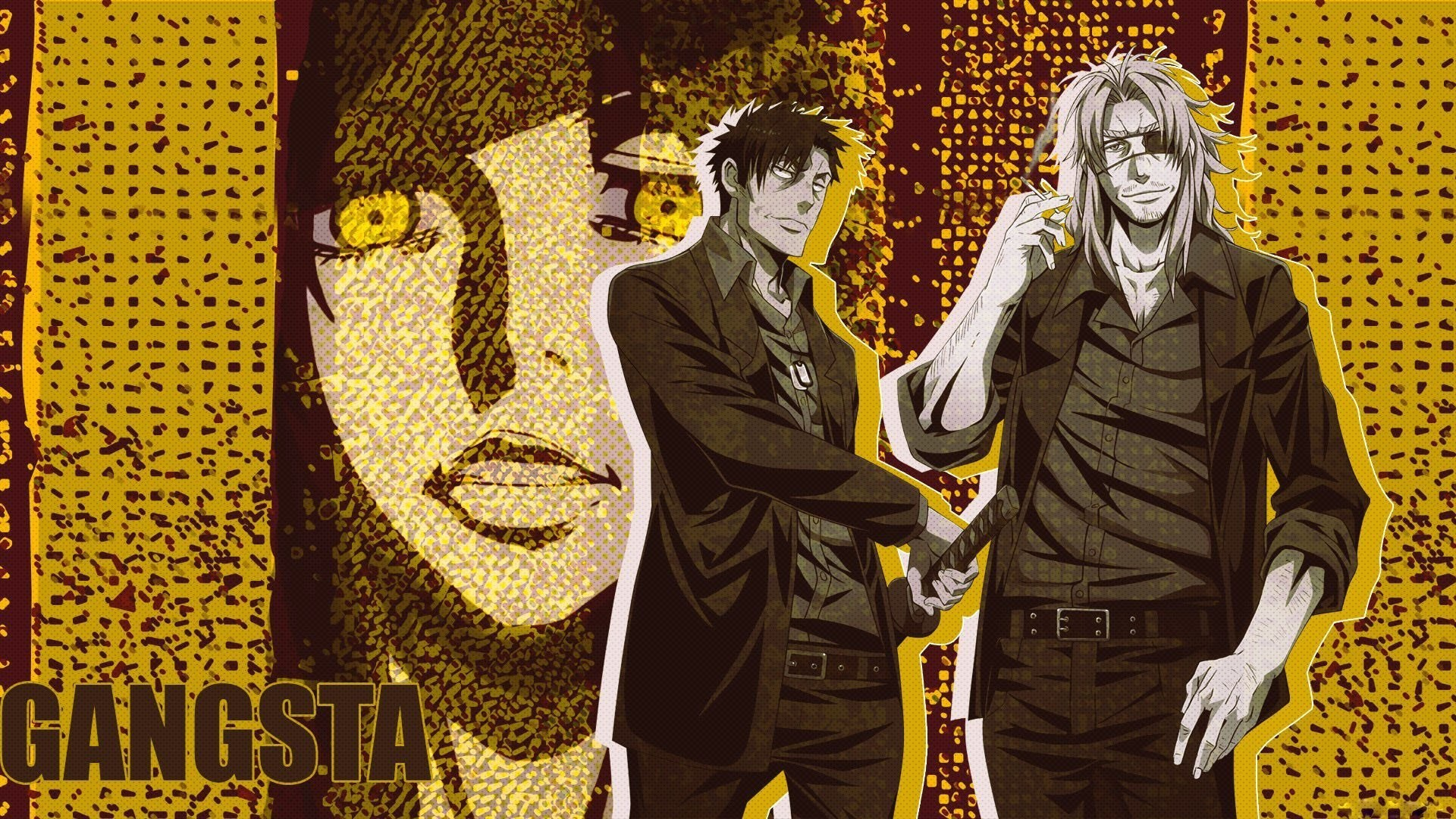 Anime series gangsta characters males wallpaper | | 826798 .