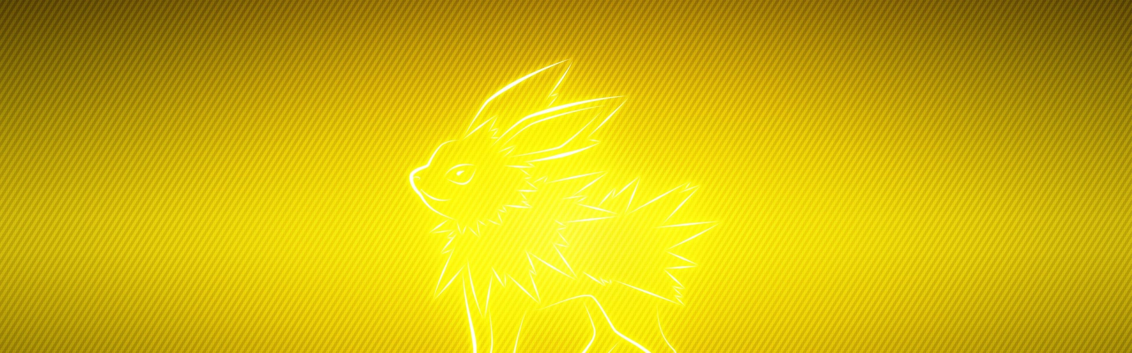 Wallpaper pokemon, yellow, black, jolteon