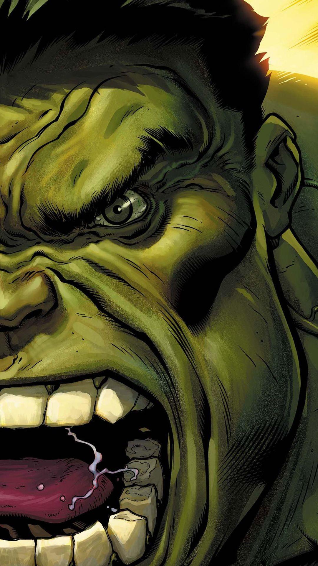 The hulk screaming illustration iphone 6 plus hd wallpaper