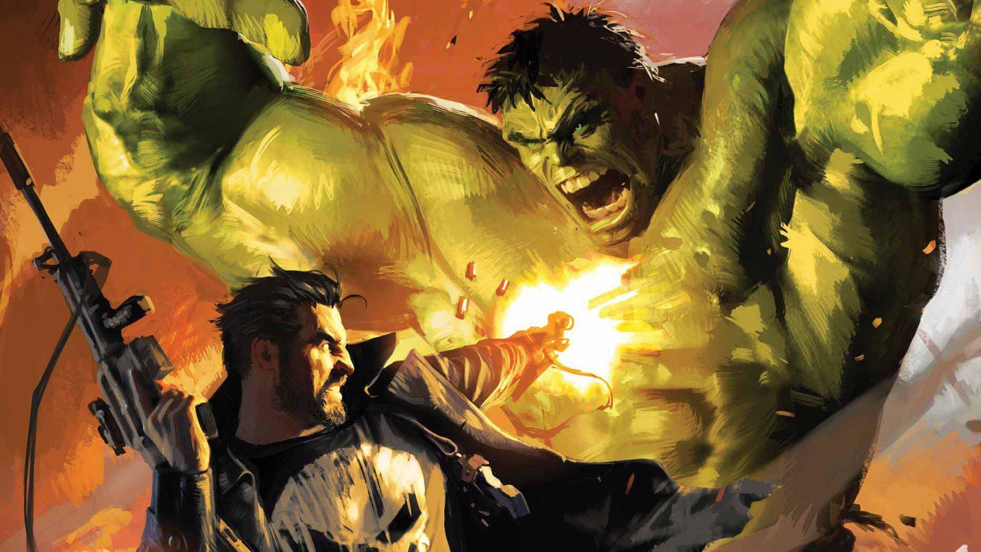 Hulk Comic Character Punisher Artwork Marvel Comics Pictures For Desktop