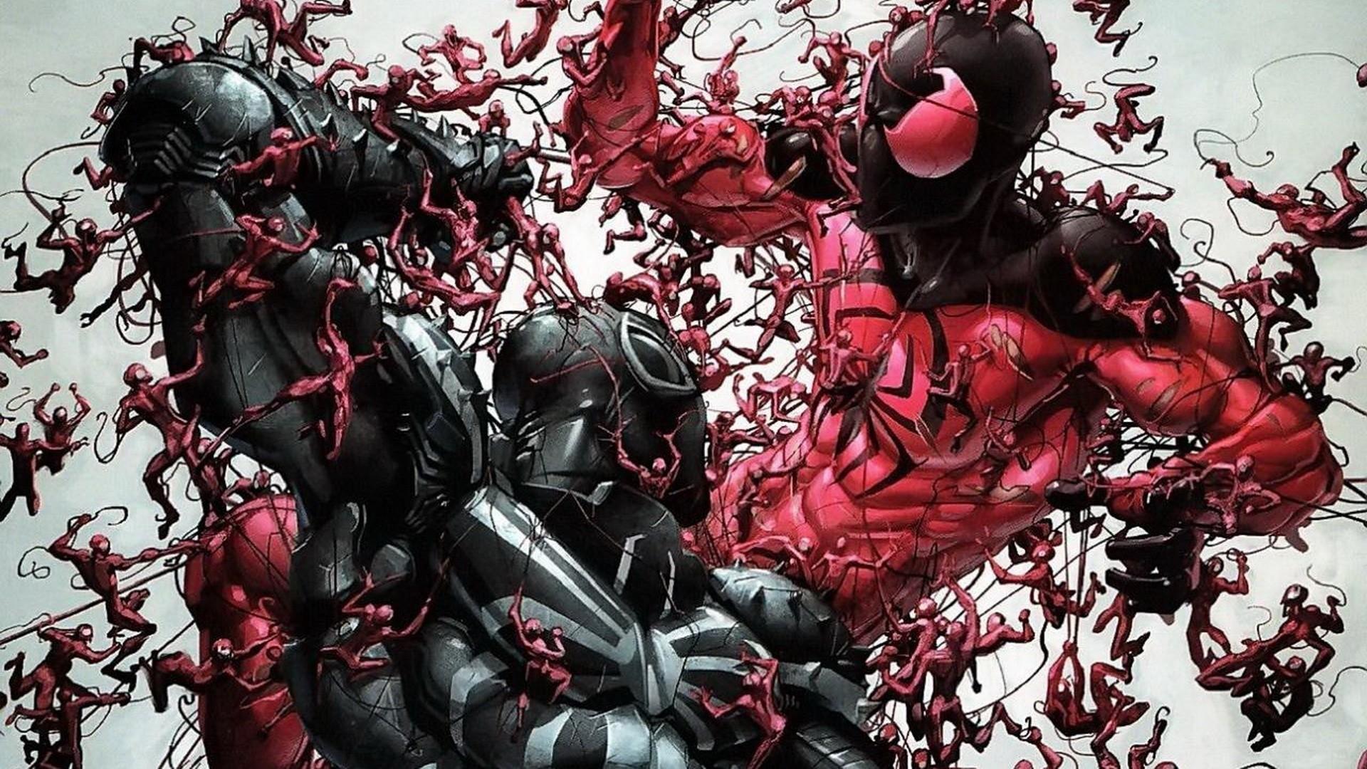 Cartoons, Marvel, Hero, Fighting, Spide Man, Simple Background wallpaper  thumb