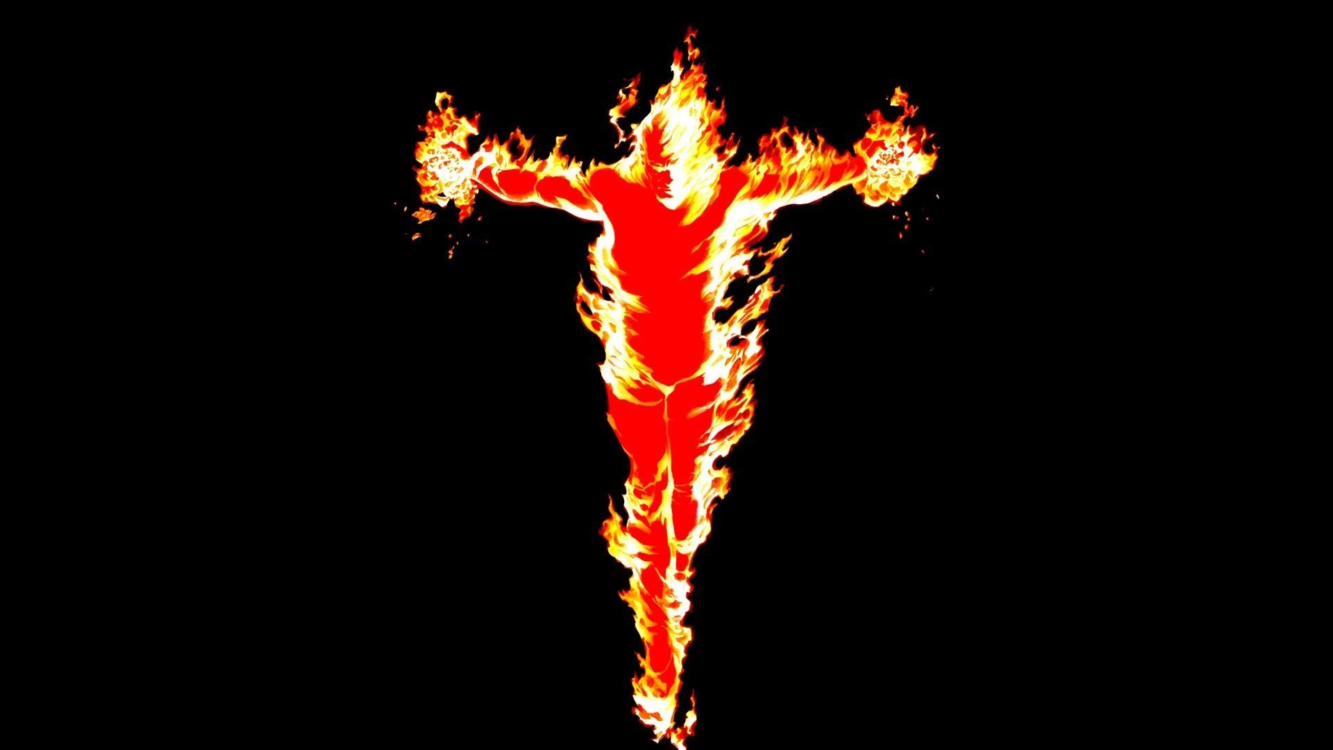 … Background Full HD 1080p. Wallpaper human torch, fantastic  four, marvel comics