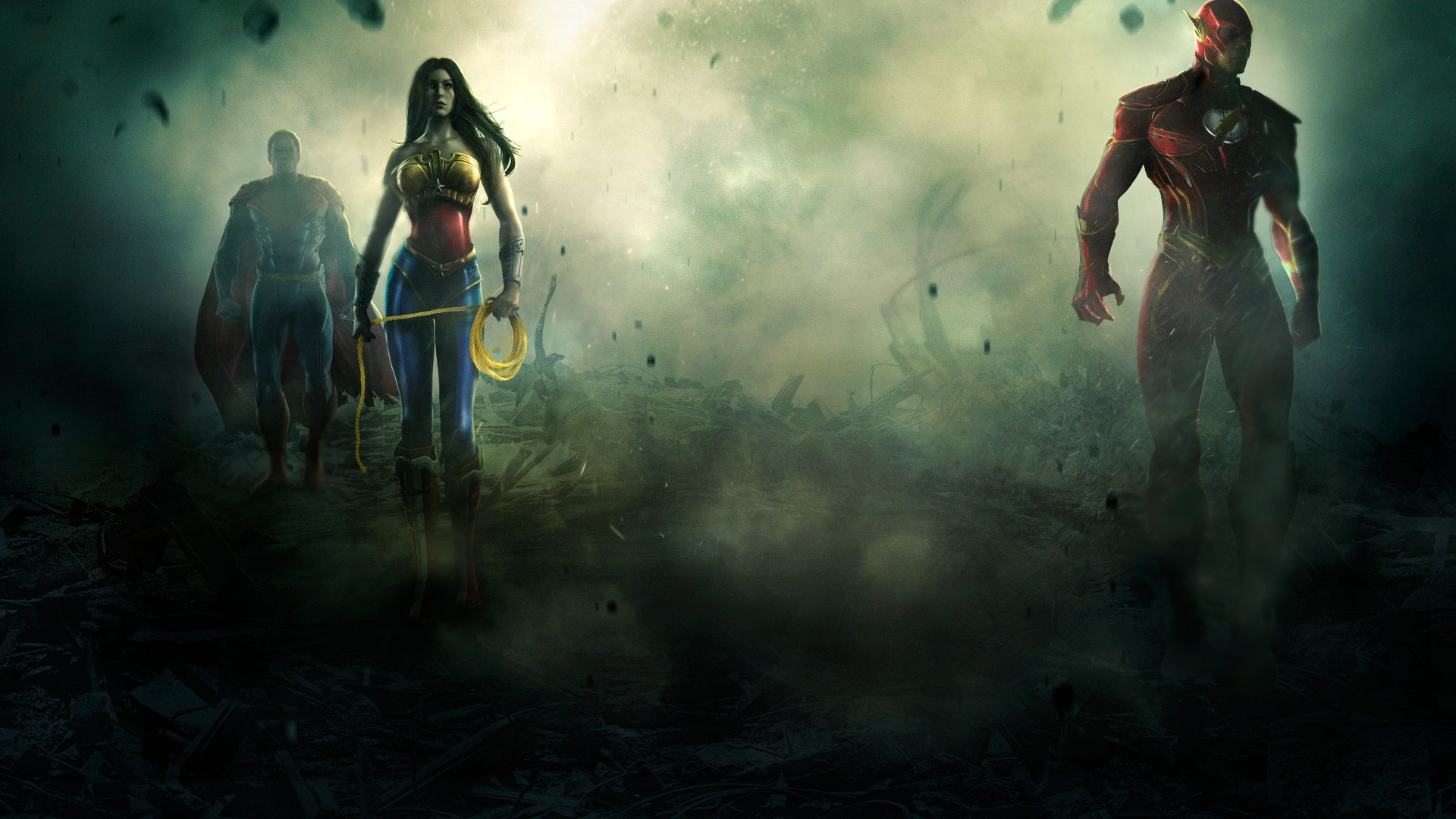 Superman, Wonder Woman ,Flash wallpaper so you can download wallpaper .
