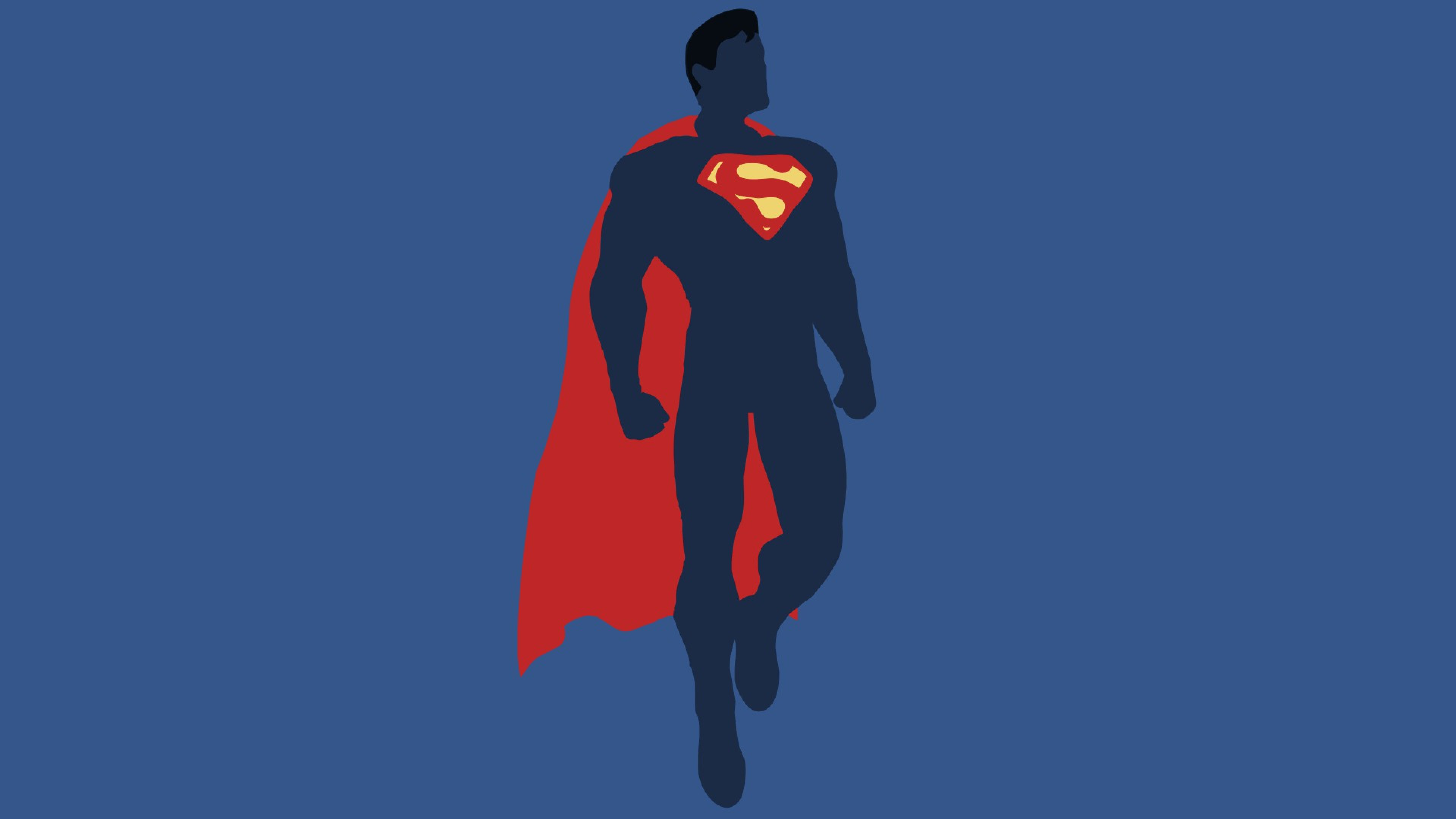 Preview wallpaper justice league, superman, dc comics, minimalism 3840×2160